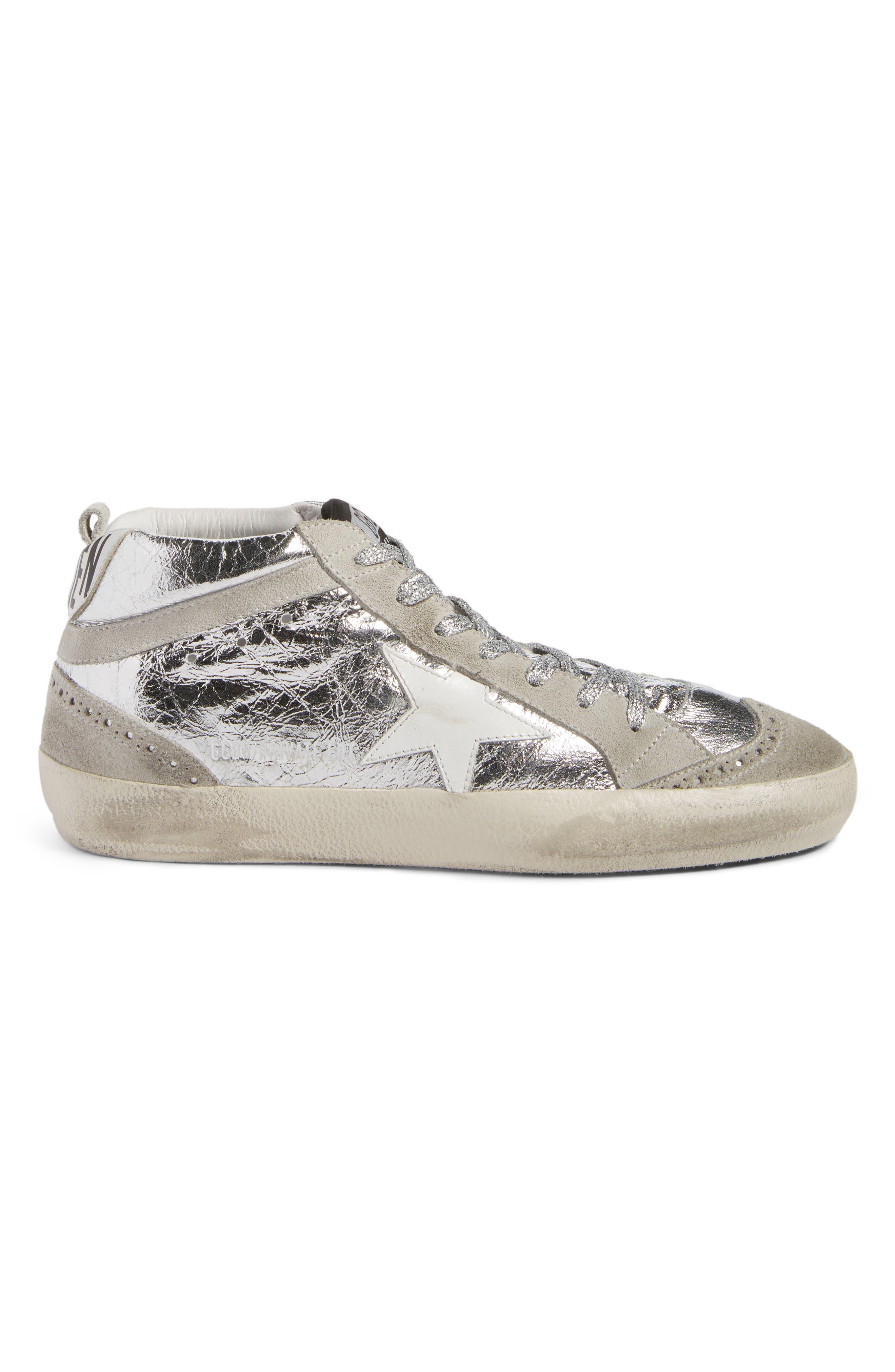 Mid Star Metallic Sneaker,                             Alternate thumbnail 3, color,                             040