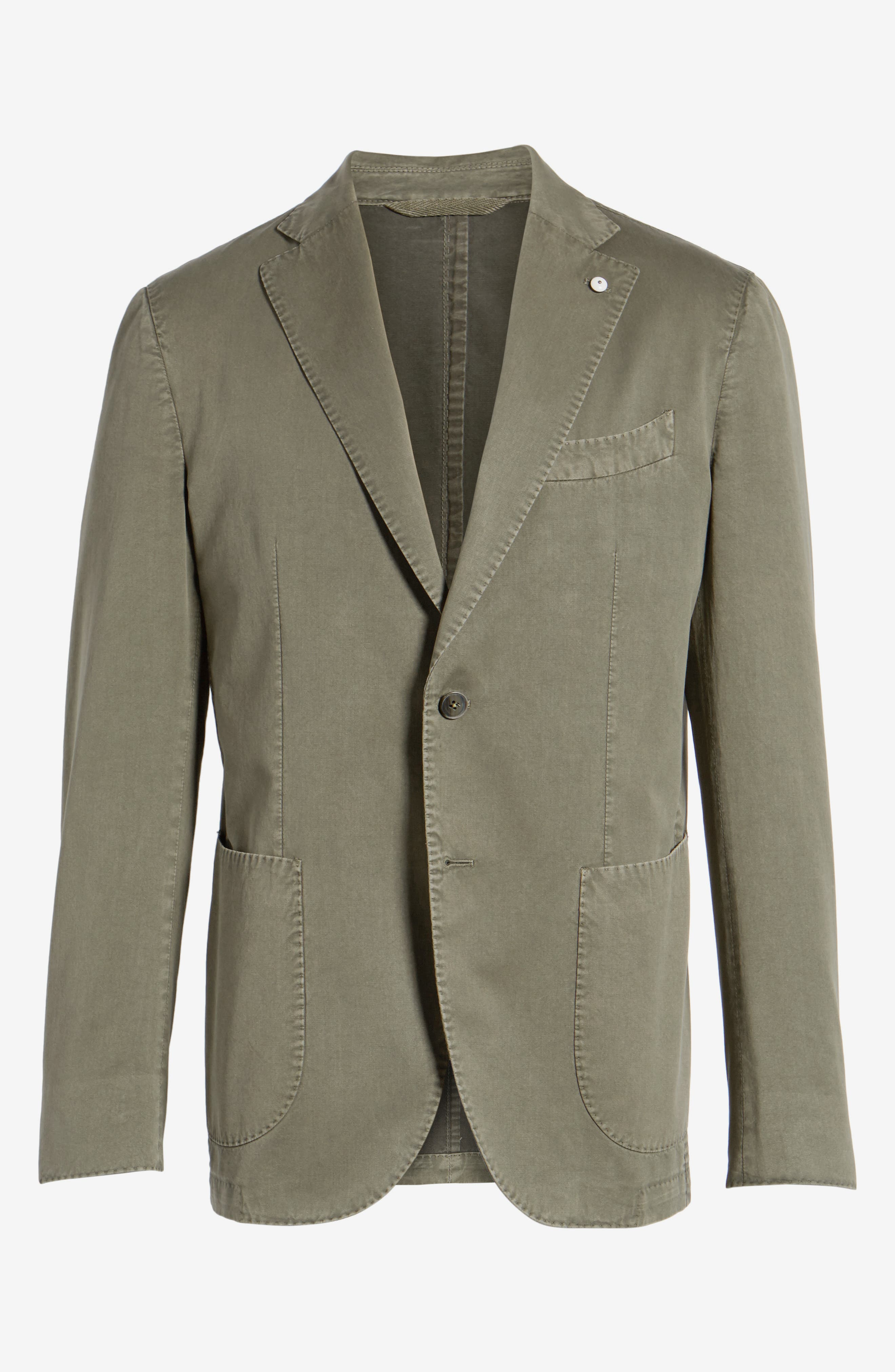 Classic Fit Cotton & Silk Blazer,                             Alternate thumbnail 5, color,                             330