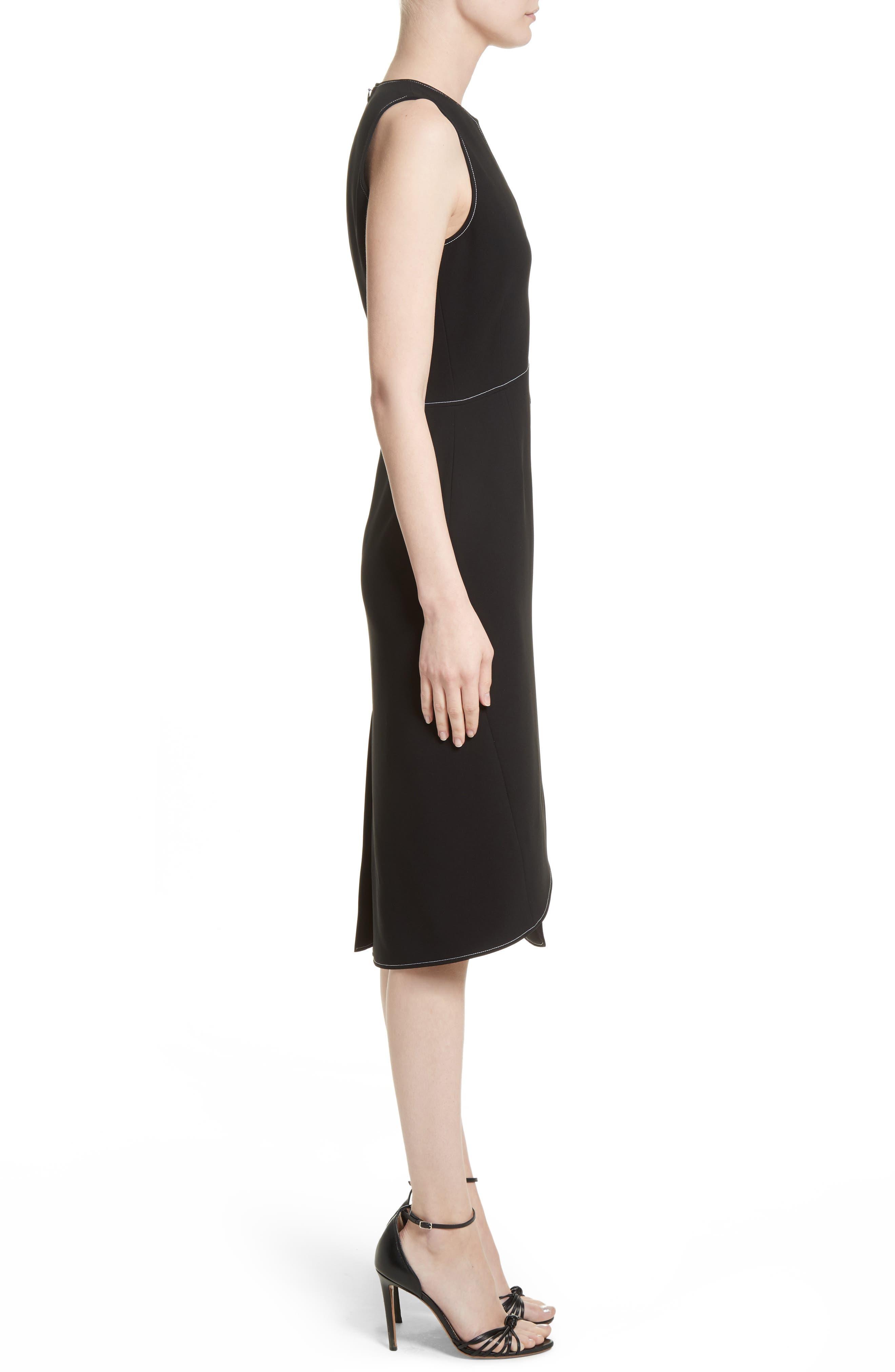 Asymmetrical Belted Dress,                             Alternate thumbnail 3, color,                             001