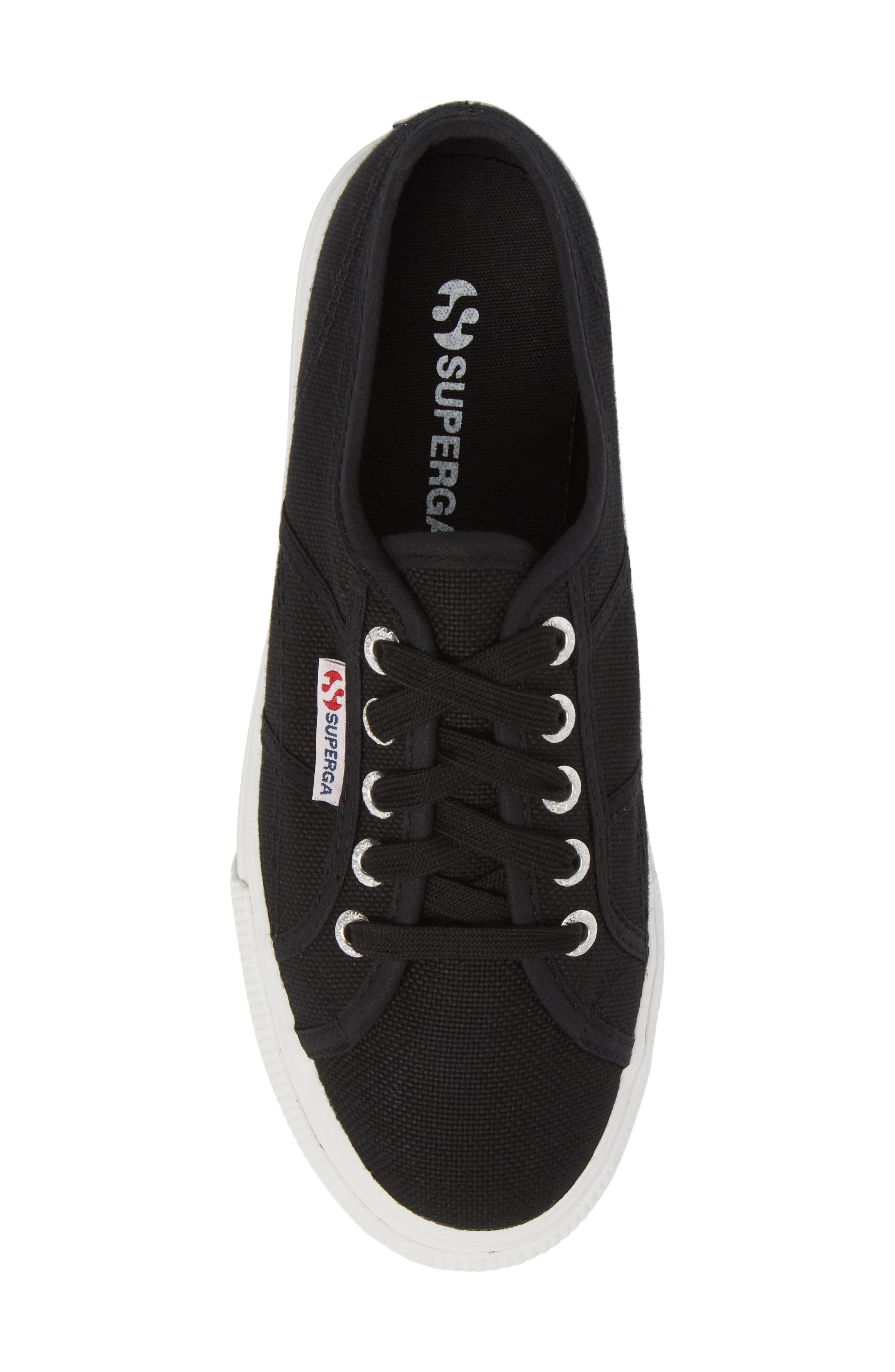 'Acot Linea' Sneaker,                             Alternate thumbnail 5, color,                             BLACK/ WHITE