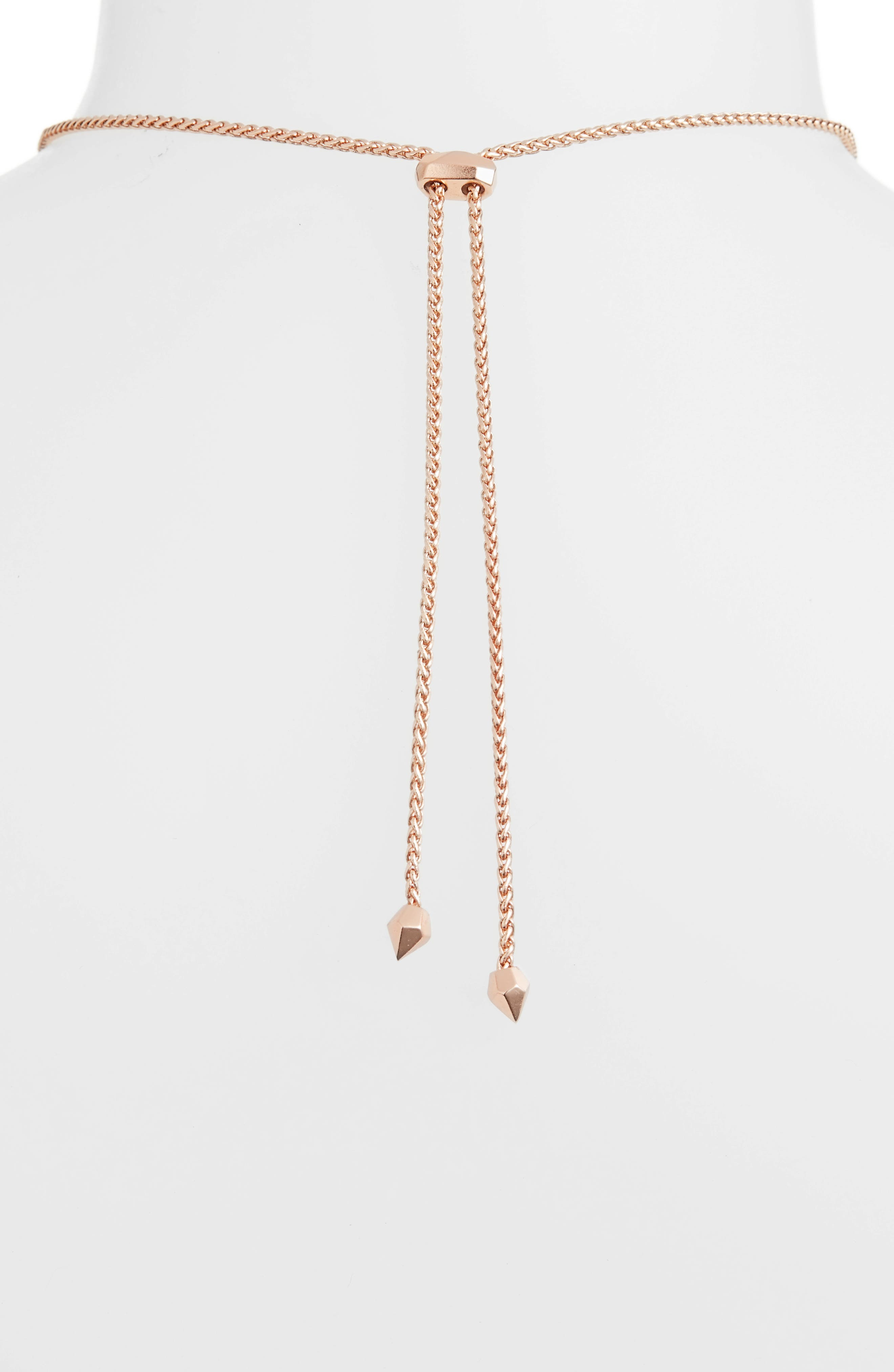 Betsy Pendant Necklace,                             Alternate thumbnail 4, color,                             LILAC MOP/ ROSE GOLD