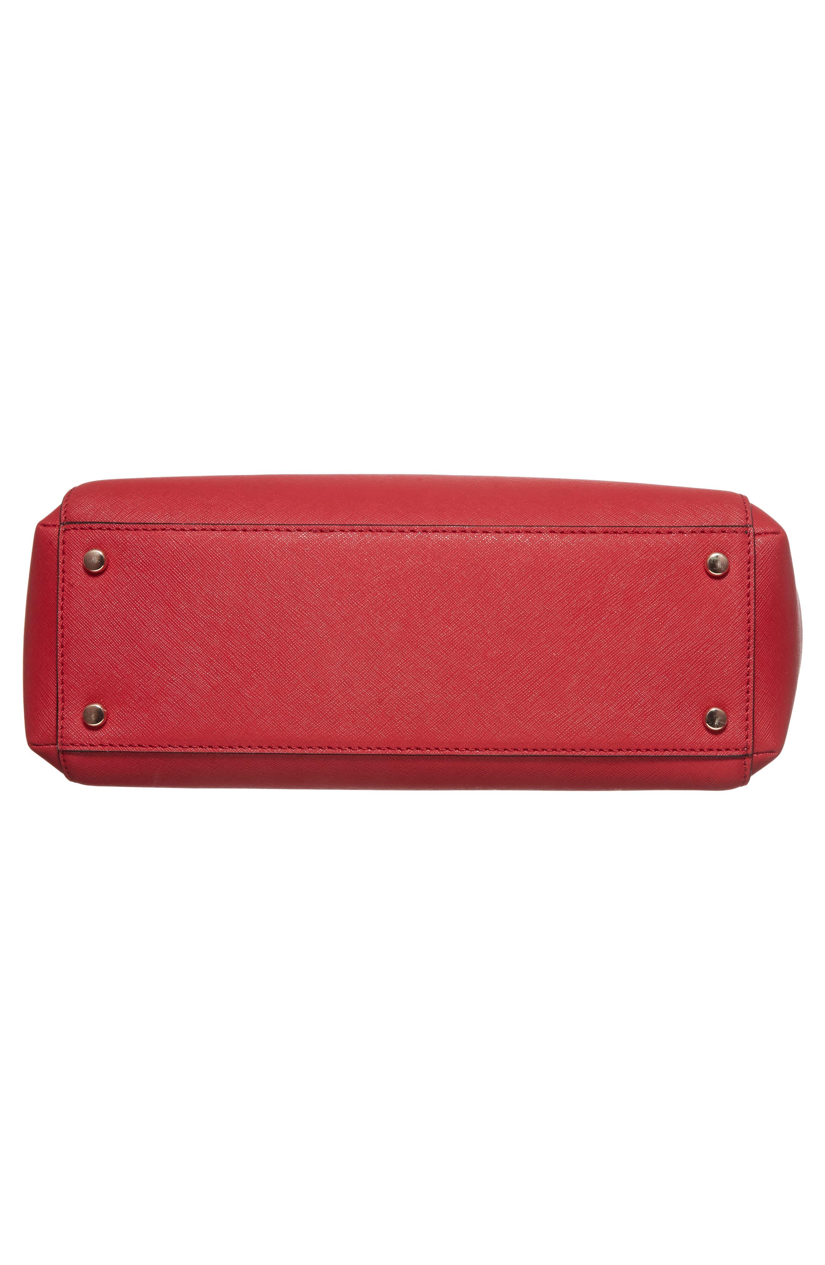 cameron street - teegan calfskin leather satchel,                             Alternate thumbnail 6, color,                             638