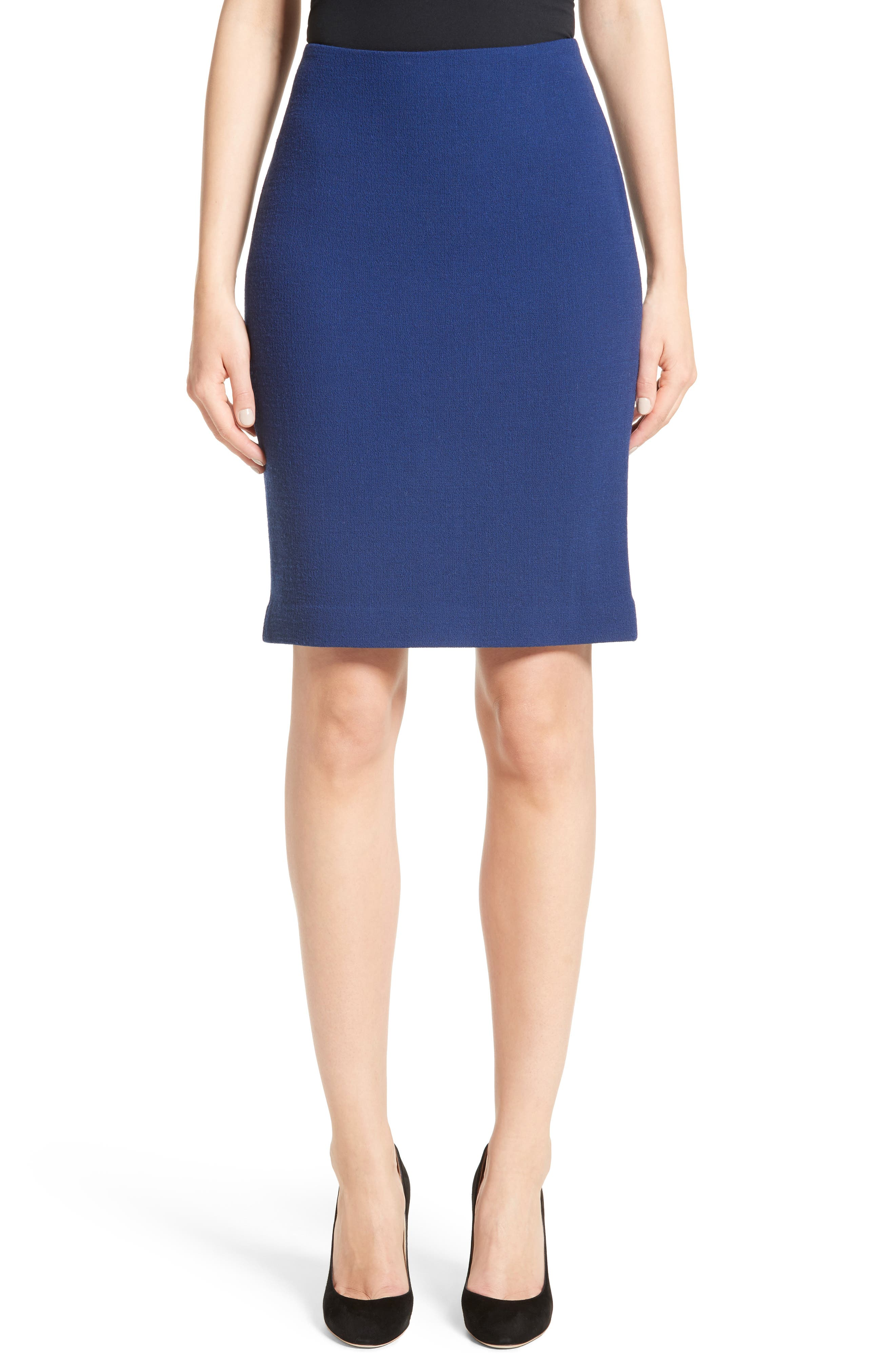 Double Crepe Pencil Skirt,                             Main thumbnail 1, color,                             400