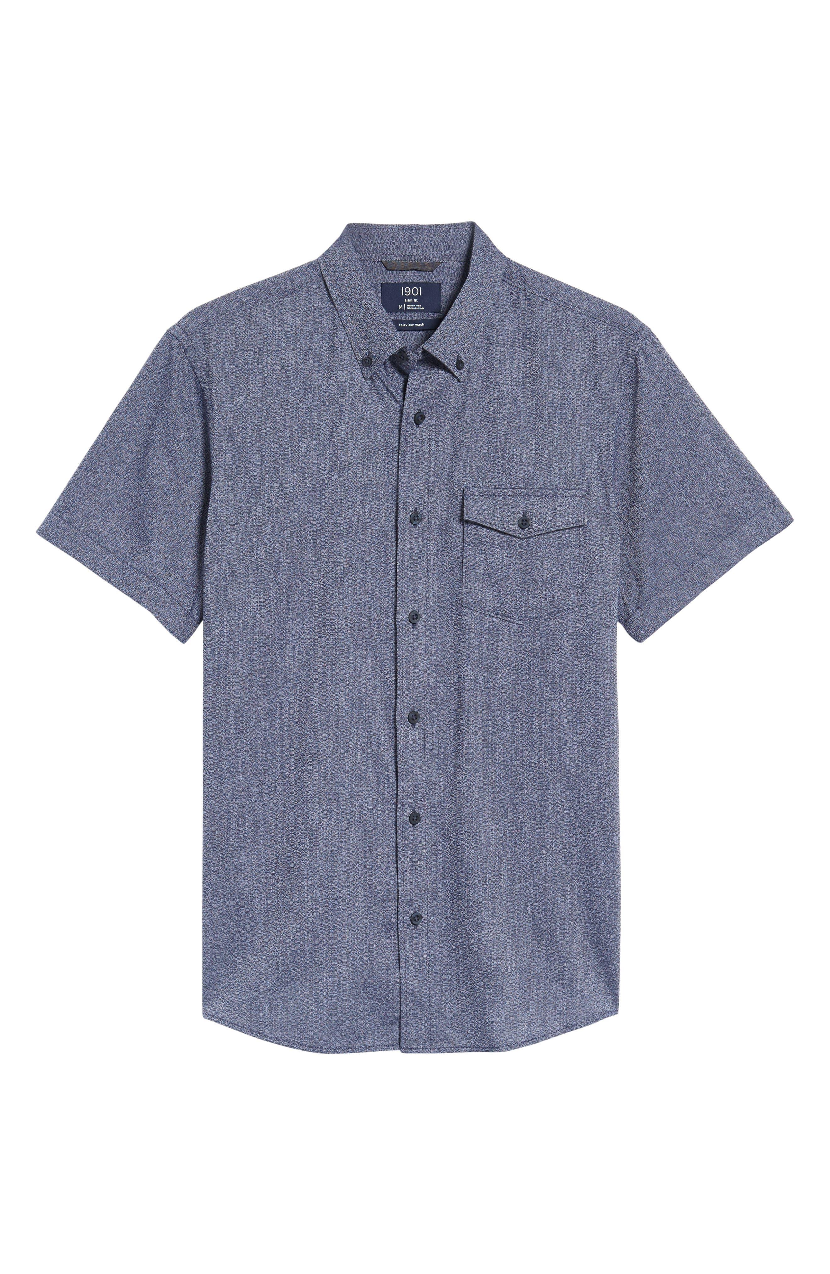 Ivy Jaspe Trim Fit Sport Shirt,                             Alternate thumbnail 6, color,                             410