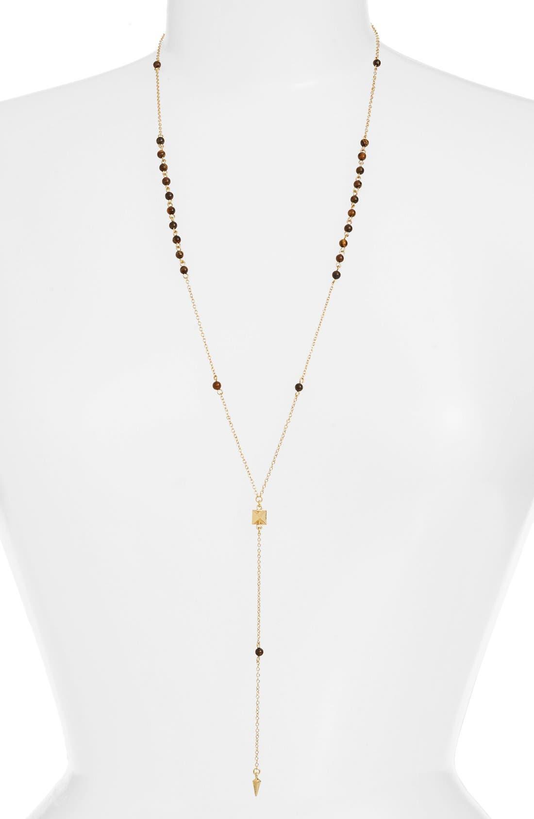 Pyramid Pendant Rosary Necklace,                             Main thumbnail 1, color,                             711