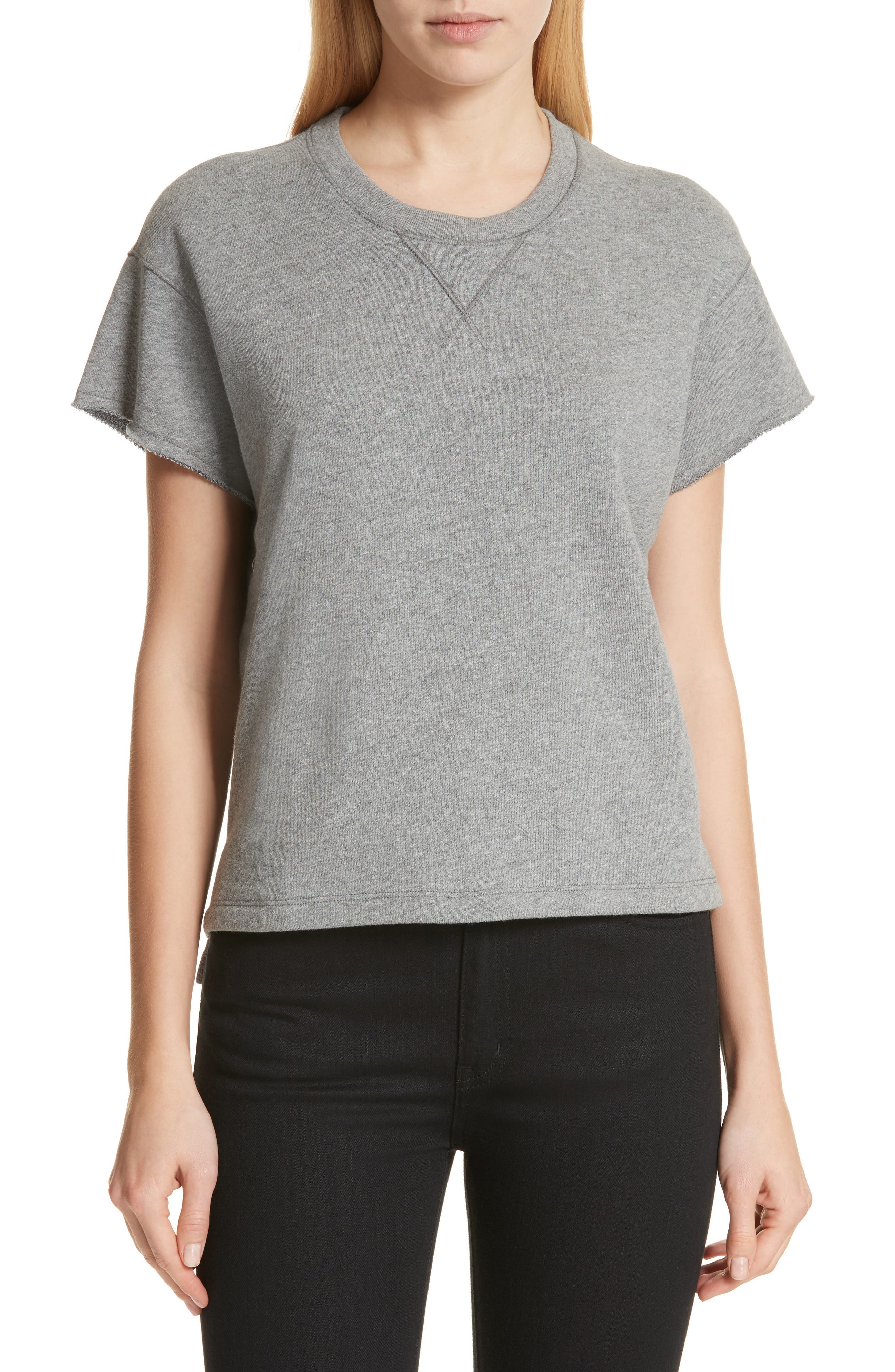 Short Sleeve Sweatshirt,                             Main thumbnail 1, color,