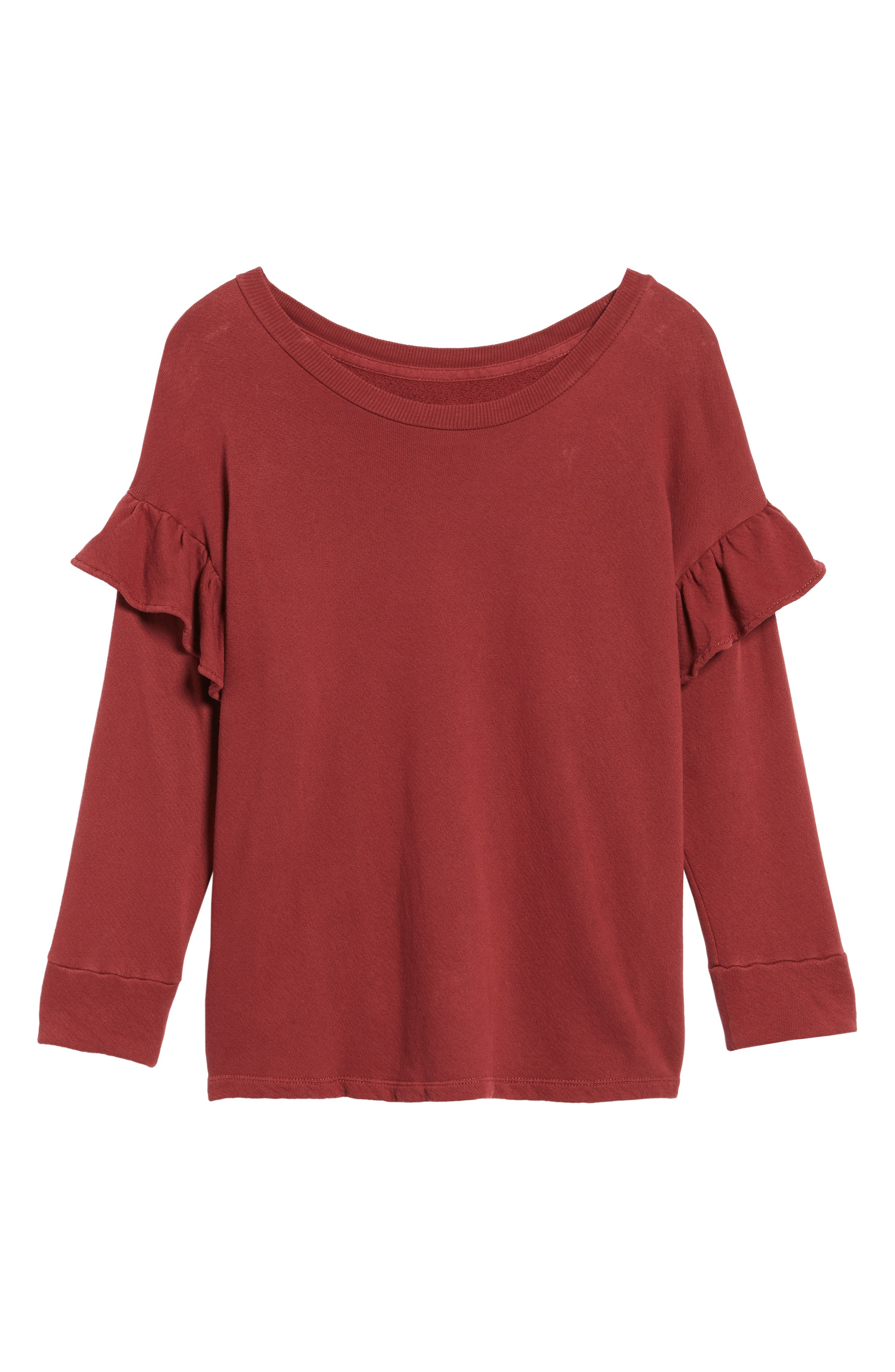 The Ruffle Sweatshirt,                             Alternate thumbnail 6, color,                             601