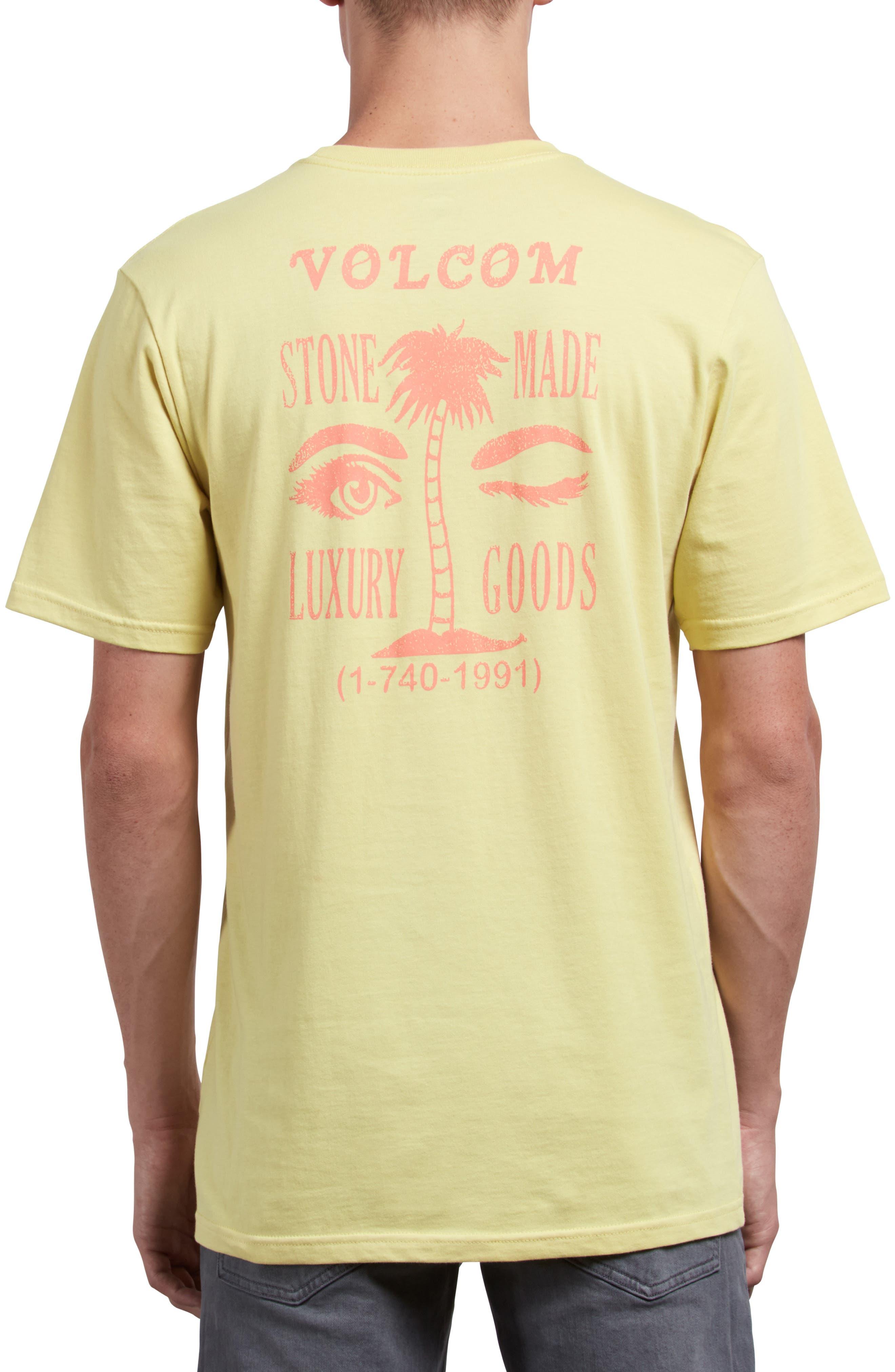Luxxxury Graphic Pocket T-Shirt,                             Alternate thumbnail 2, color,                             ACID YELLOW