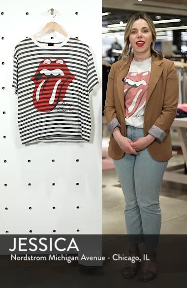 Rolling Stones Stripe Boyfriend Tee, sales video thumbnail