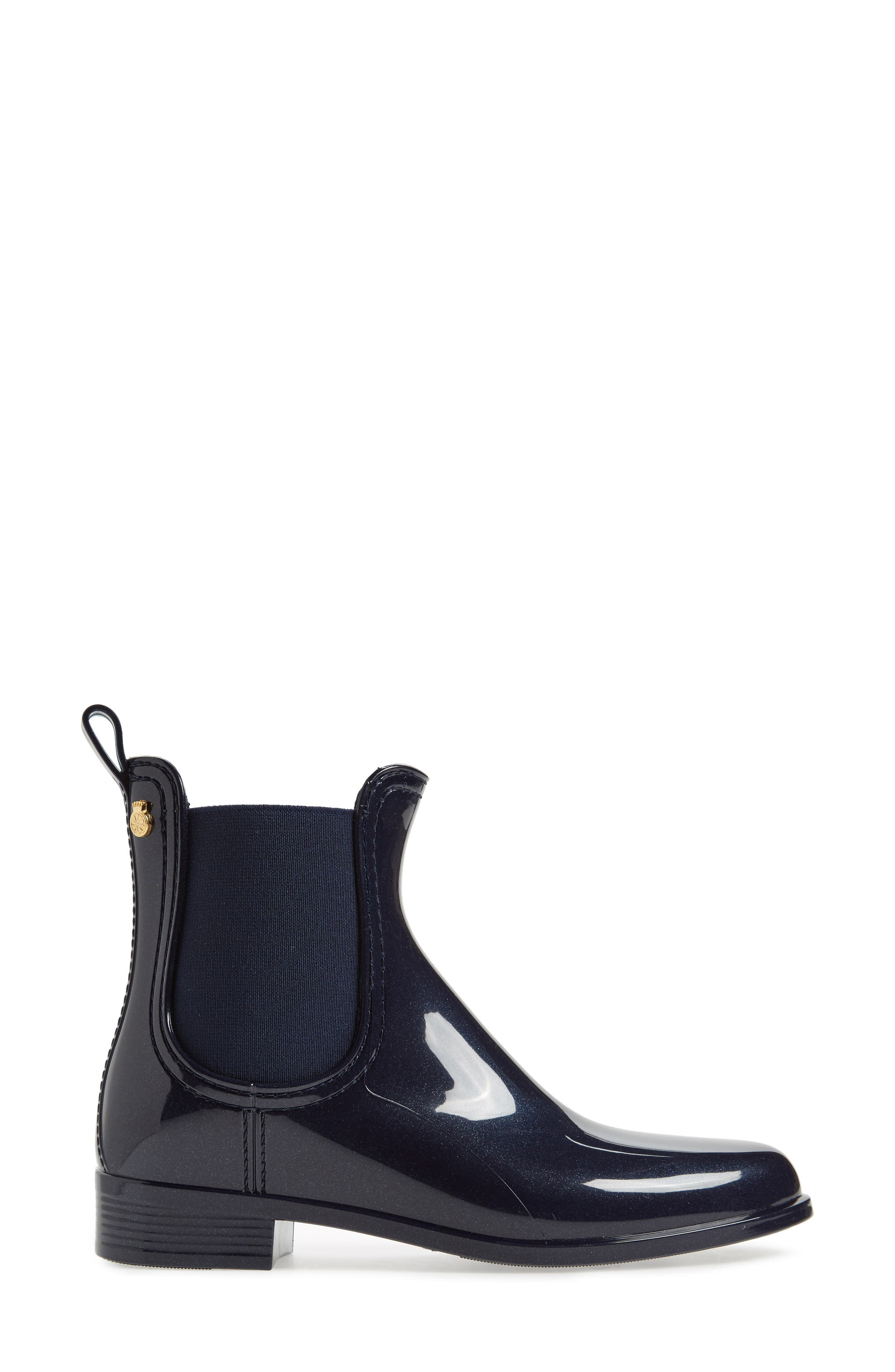 Comfy Waterproof Chelsea Boot,                             Alternate thumbnail 3, color,                             METAL BLUE MATTE