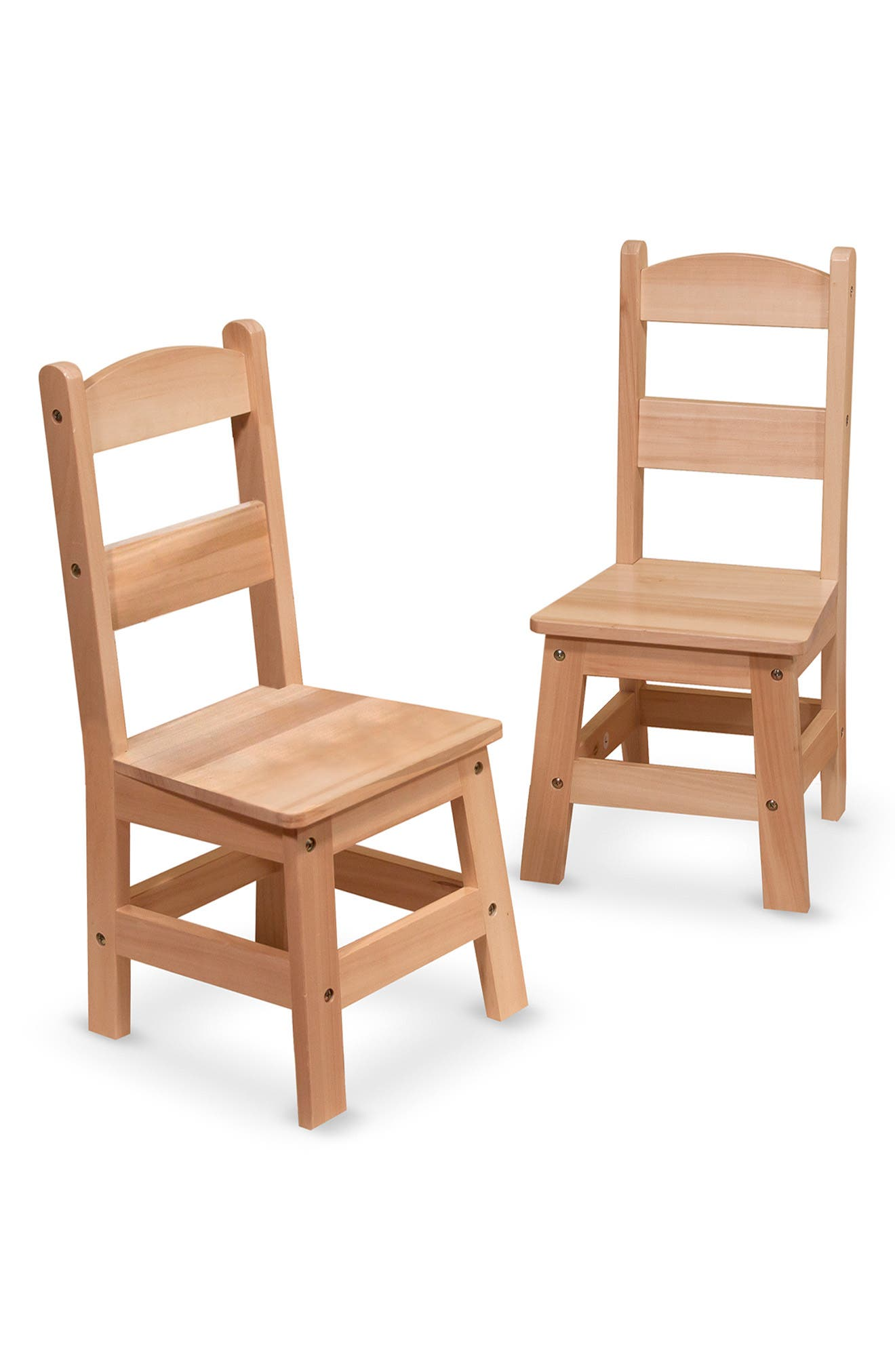 MELISSA & DOUG Wooden Chairs, Main, color, BROWN
