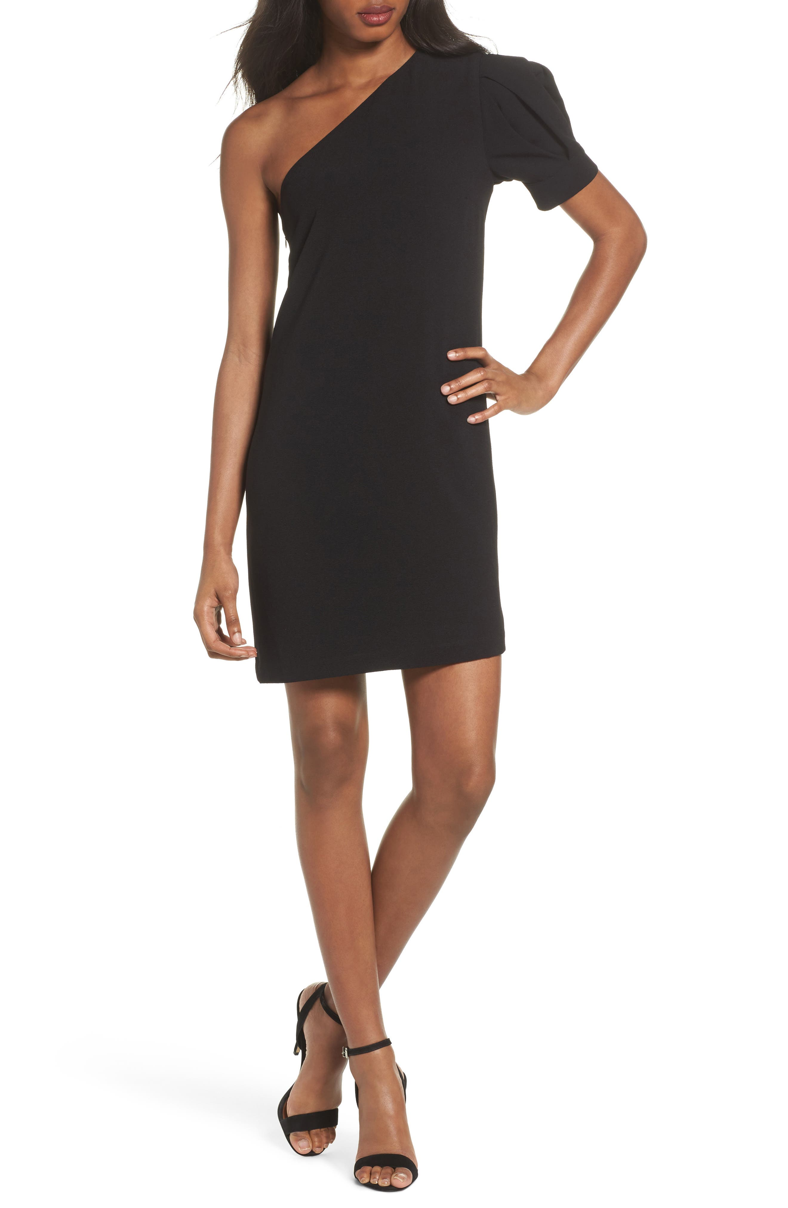 One-Shoulder Shift Dress,                             Main thumbnail 1, color,