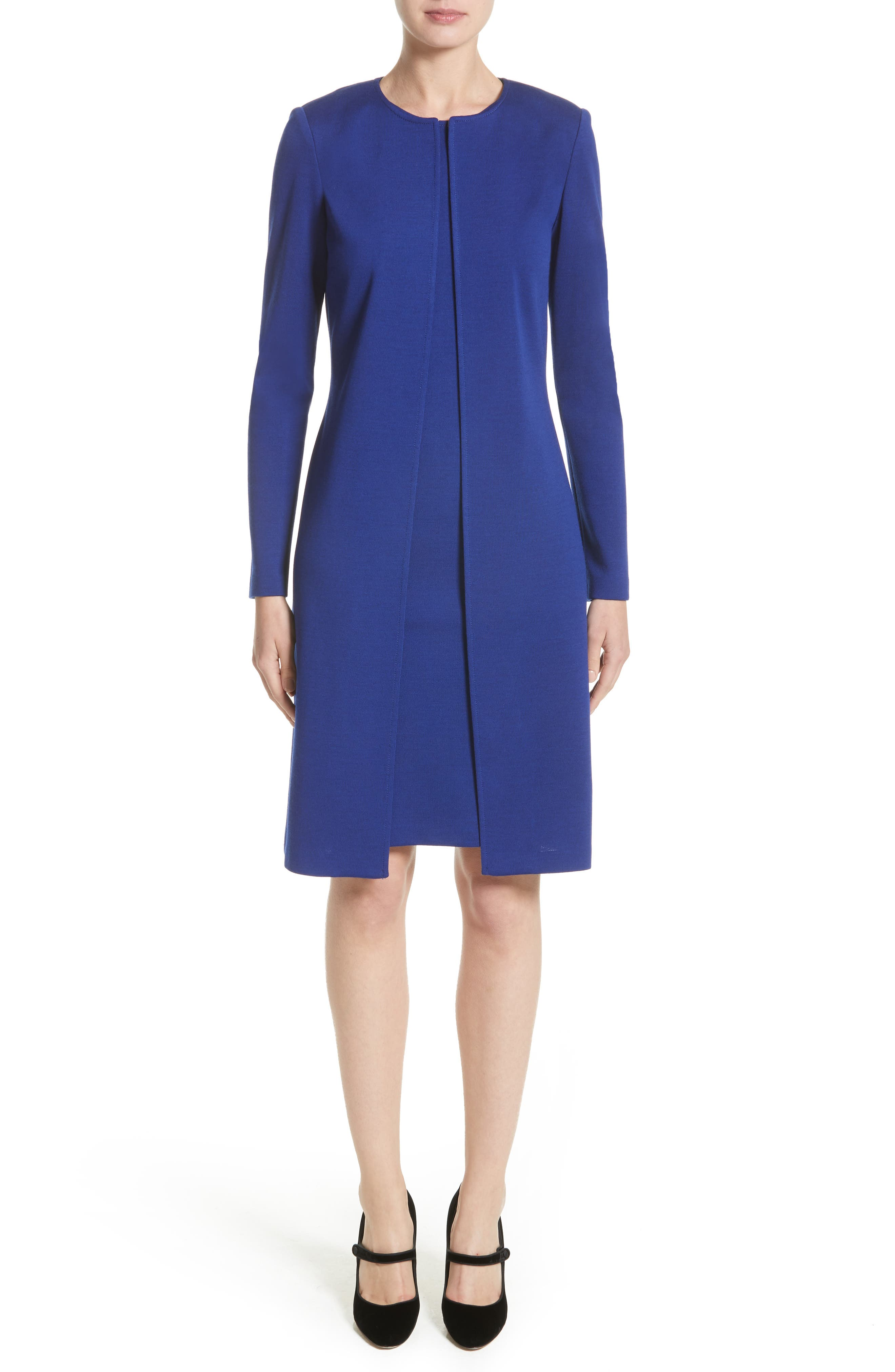 Milano Knit Sheath Dress,                             Alternate thumbnail 6, color,                             430