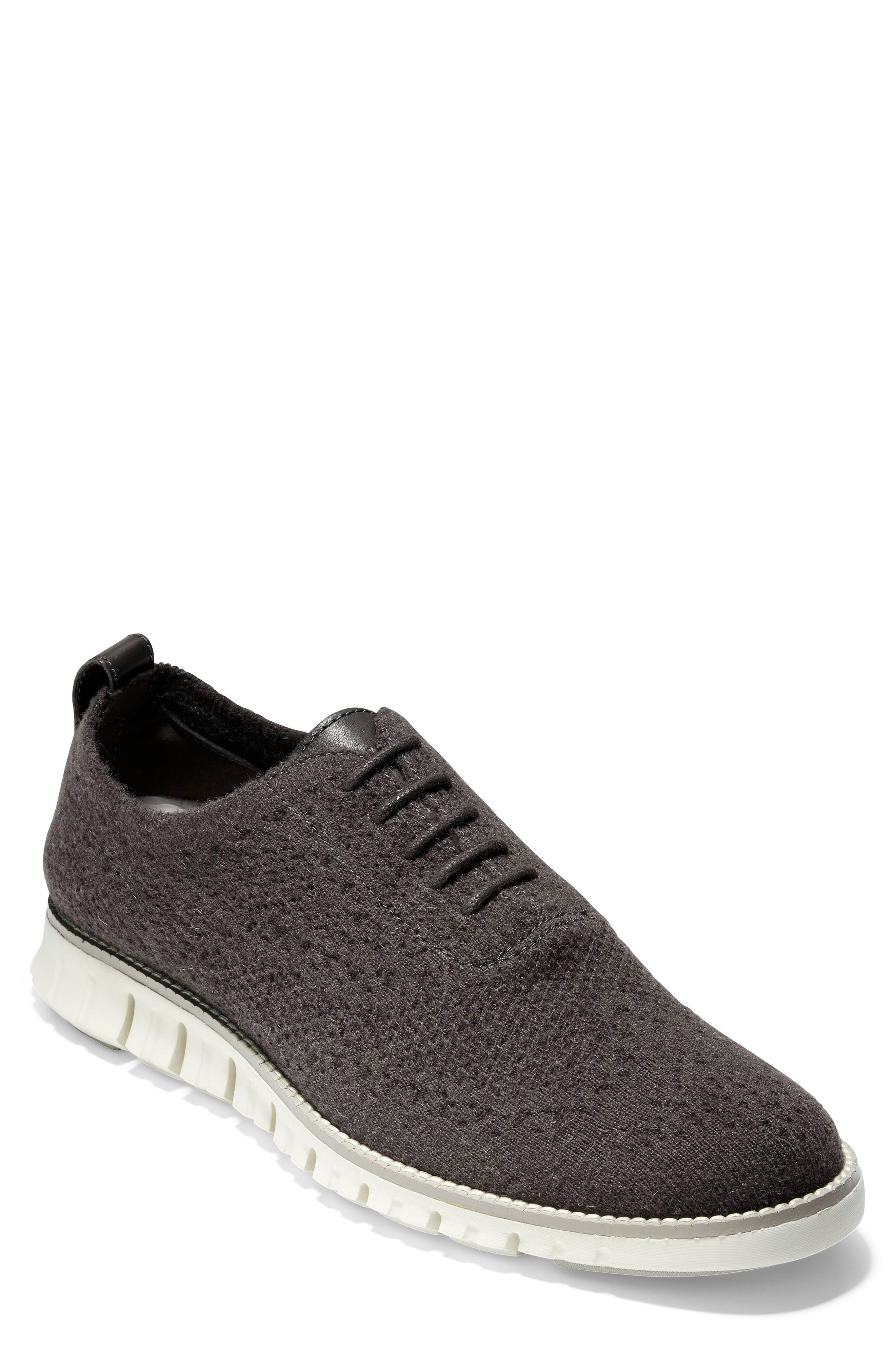 ZeroGrand Stitchlite<sup>™</sup> Water Resistant Wool Oxford,                         Main,                         color, DARK ROAST WOOL KNIT/ IVORY