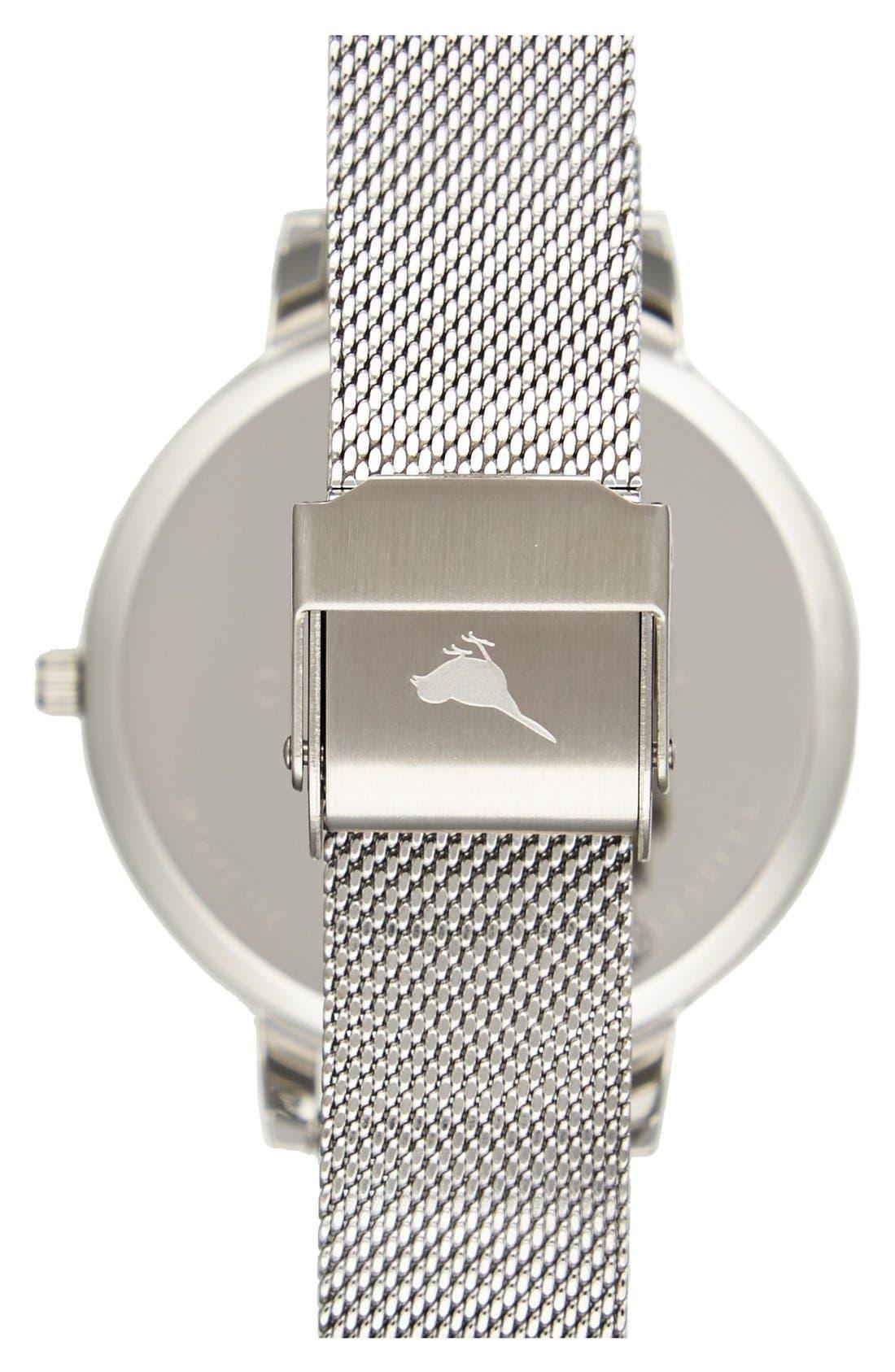 'Big Dial' Mesh Strap Watch, 38mm,                             Alternate thumbnail 30, color,