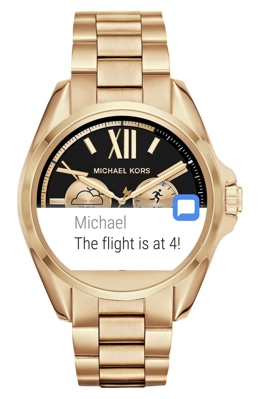 MICHAEL Michael Kors Bradshaw Access Bracelet Smart Watch, 45mm,                             Alternate thumbnail 50, color,