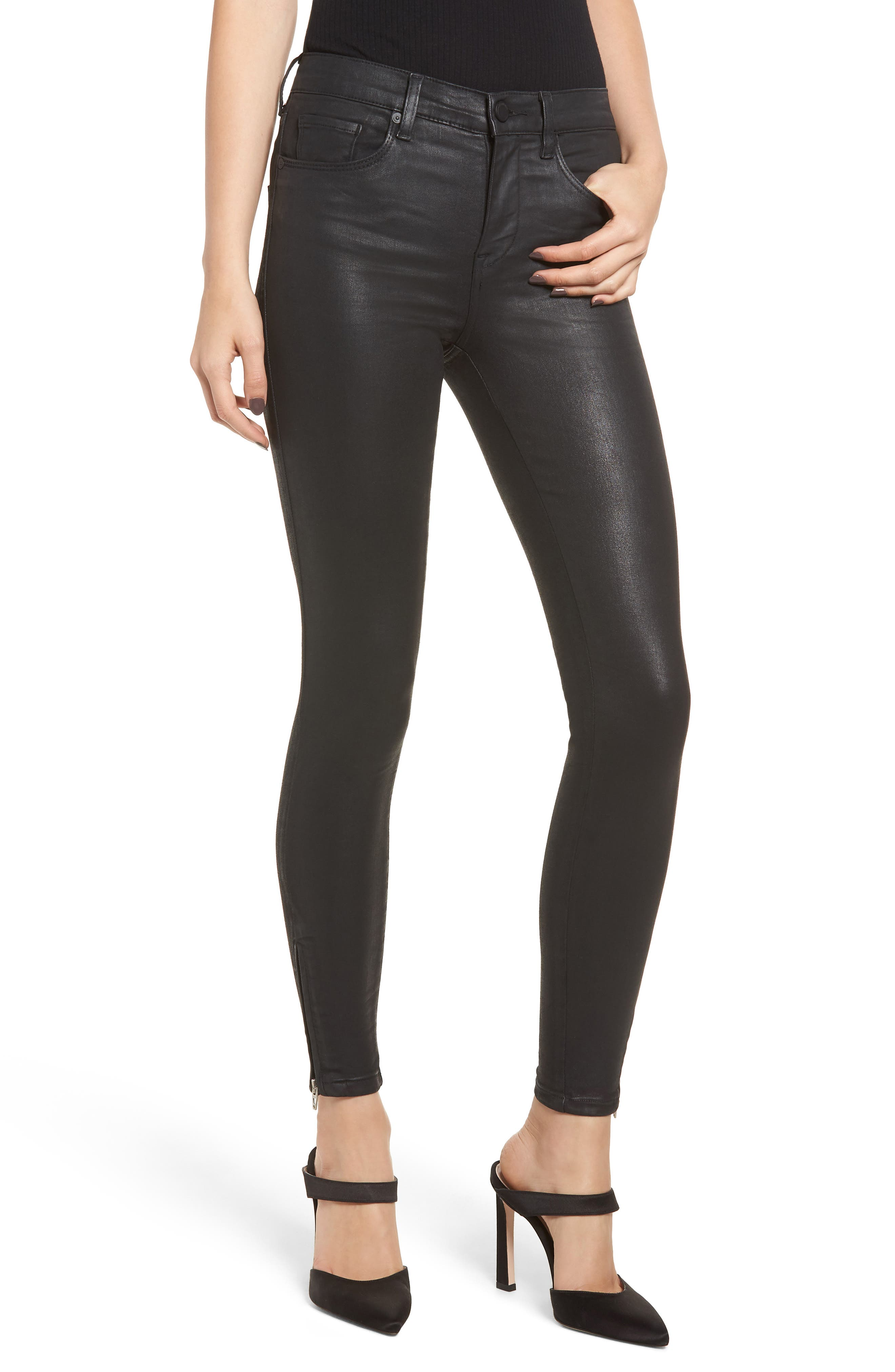 The Bond Coated Skinny Jeans, Main, color, SPARTACUS