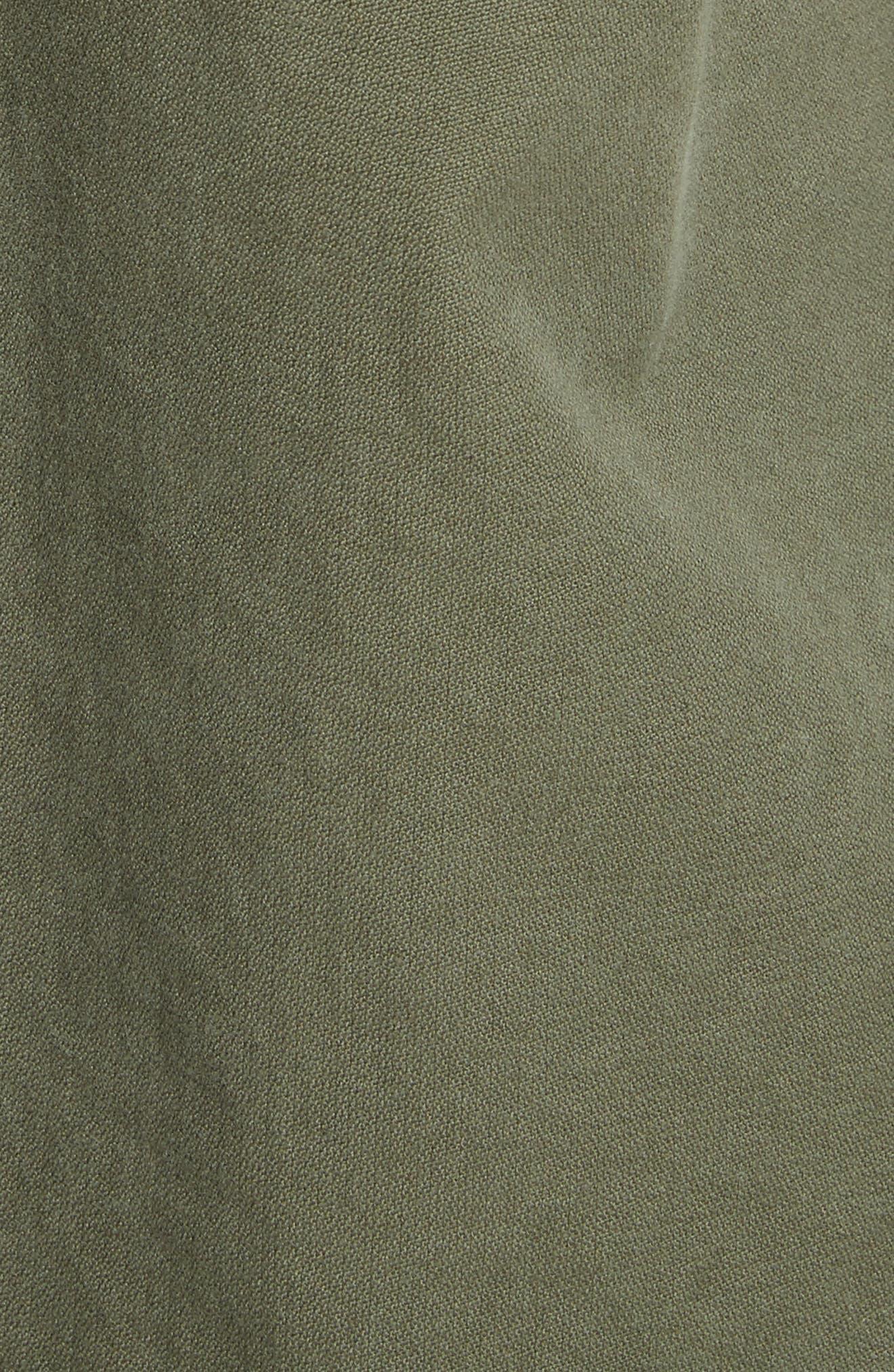 Army Coat with Cheetah Faux Fur Hood,                             Alternate thumbnail 6, color,                             340