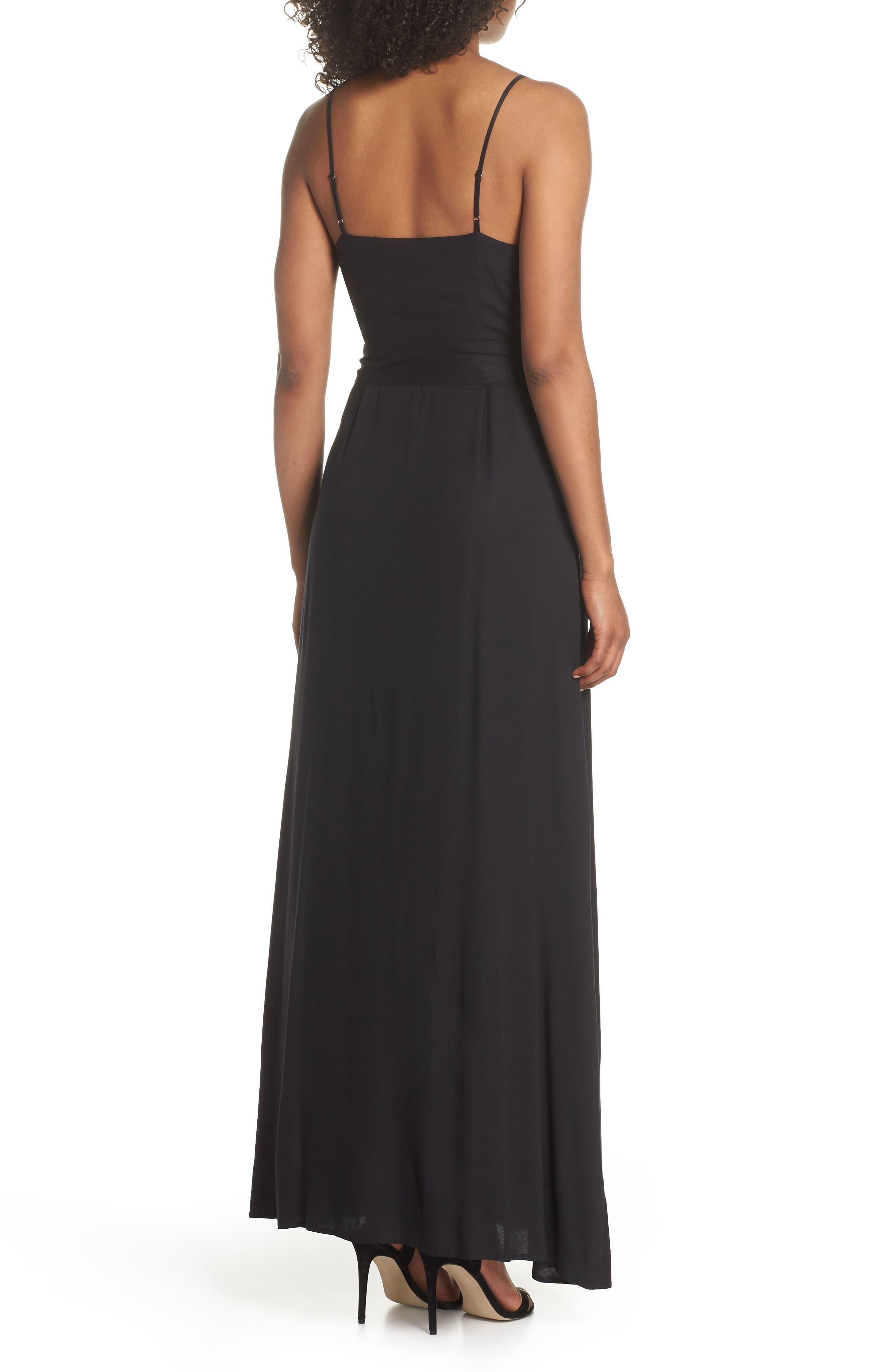 Regina Sleeveless Maxi Dress,                             Alternate thumbnail 2, color,                             001