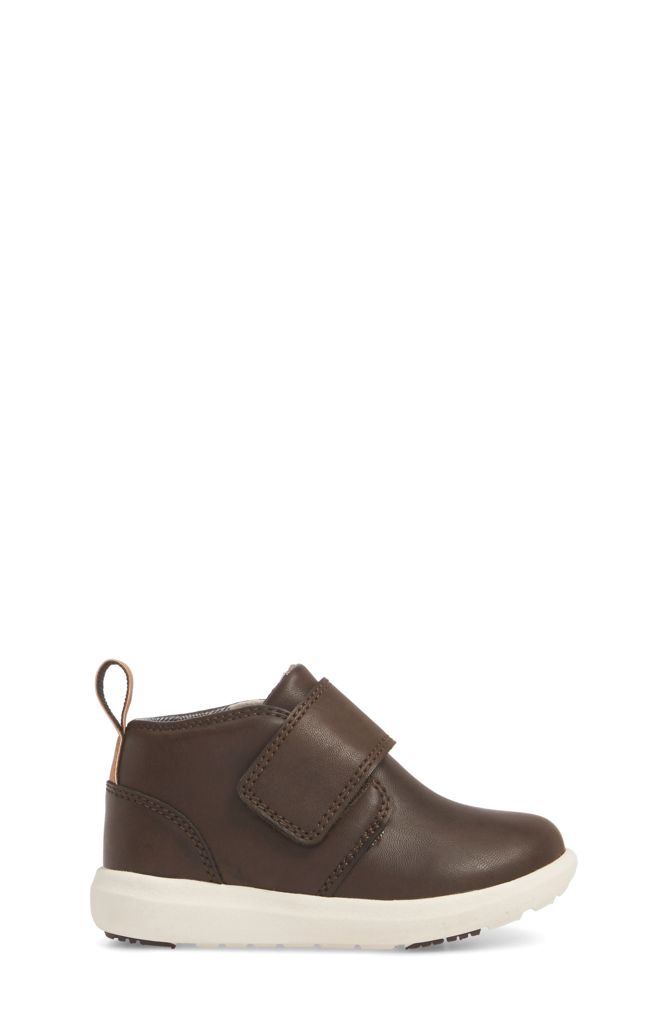 Oliver Low Bootie Sneaker,                             Alternate thumbnail 3, color,                             CHOCOLATE FAUX LEATHER