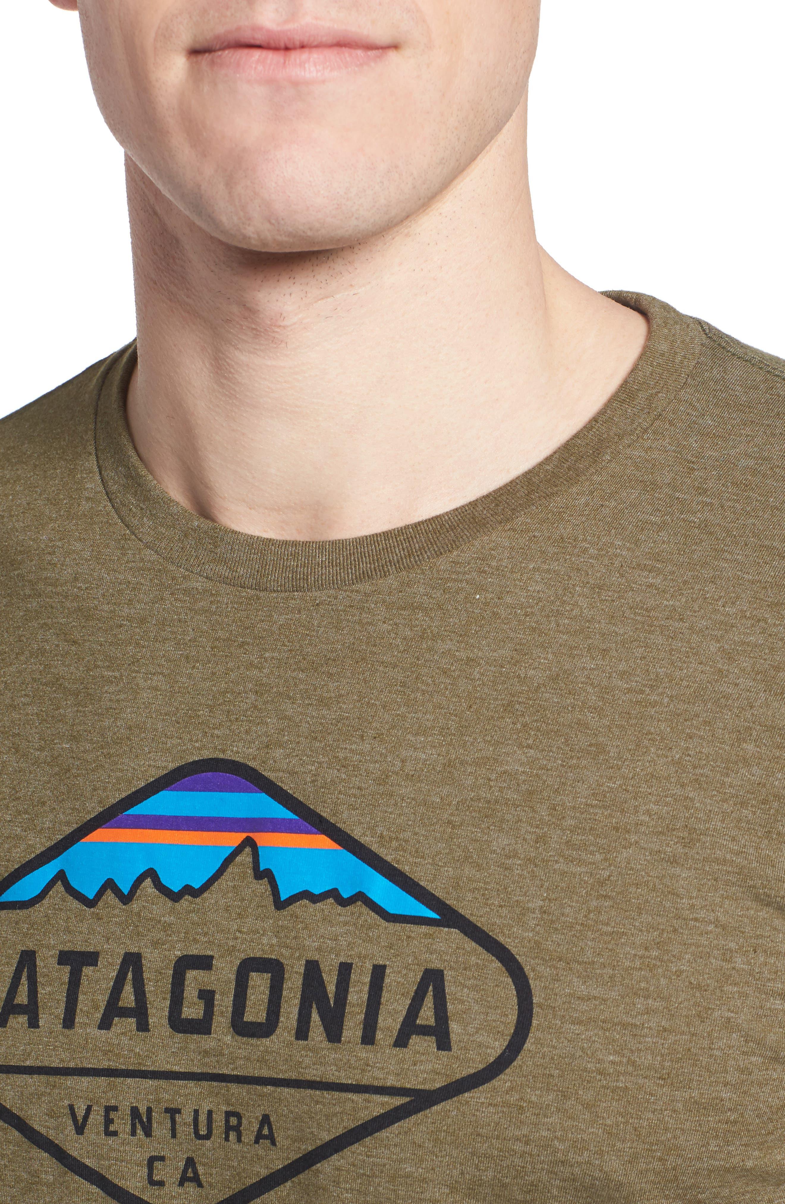 'Fitz Roy Crest' Slim Fit Organic Cotton Blend T-Shirt,                             Alternate thumbnail 28, color,