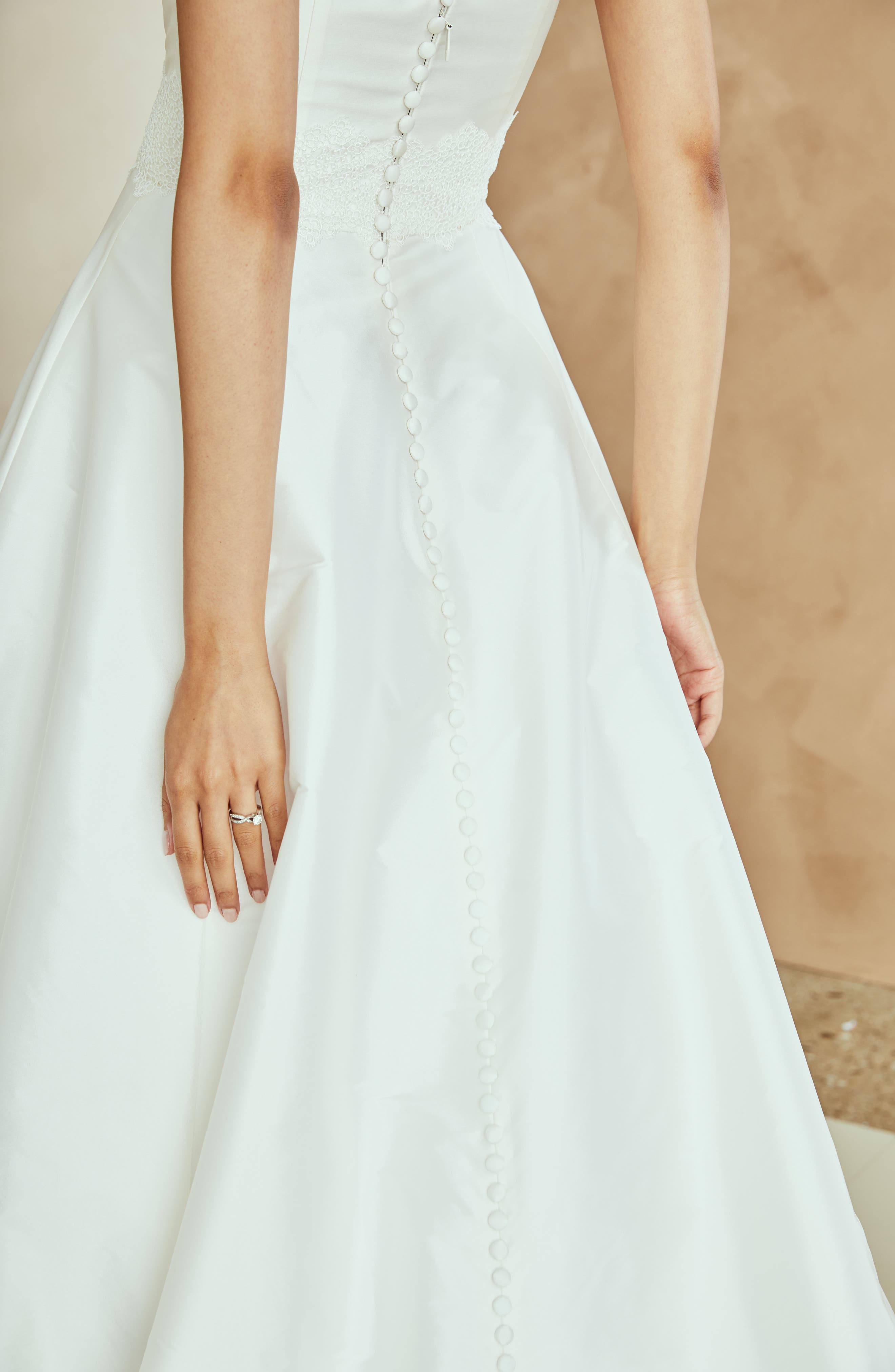 Ana Strapless Ballgown,                             Alternate thumbnail 8, color,                             IVORY