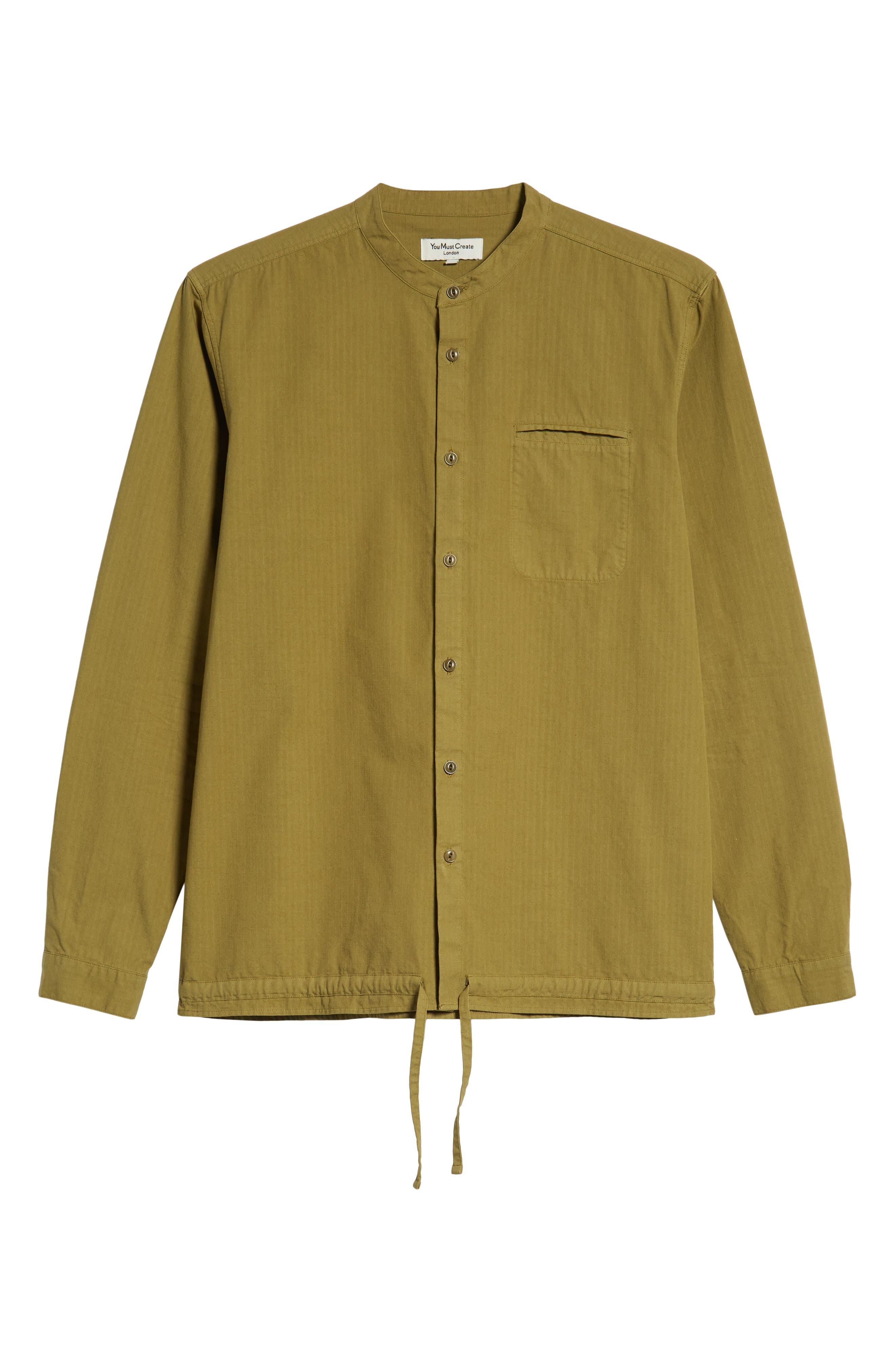Ripstop Beach Shirt,                             Alternate thumbnail 5, color,                             GREEN