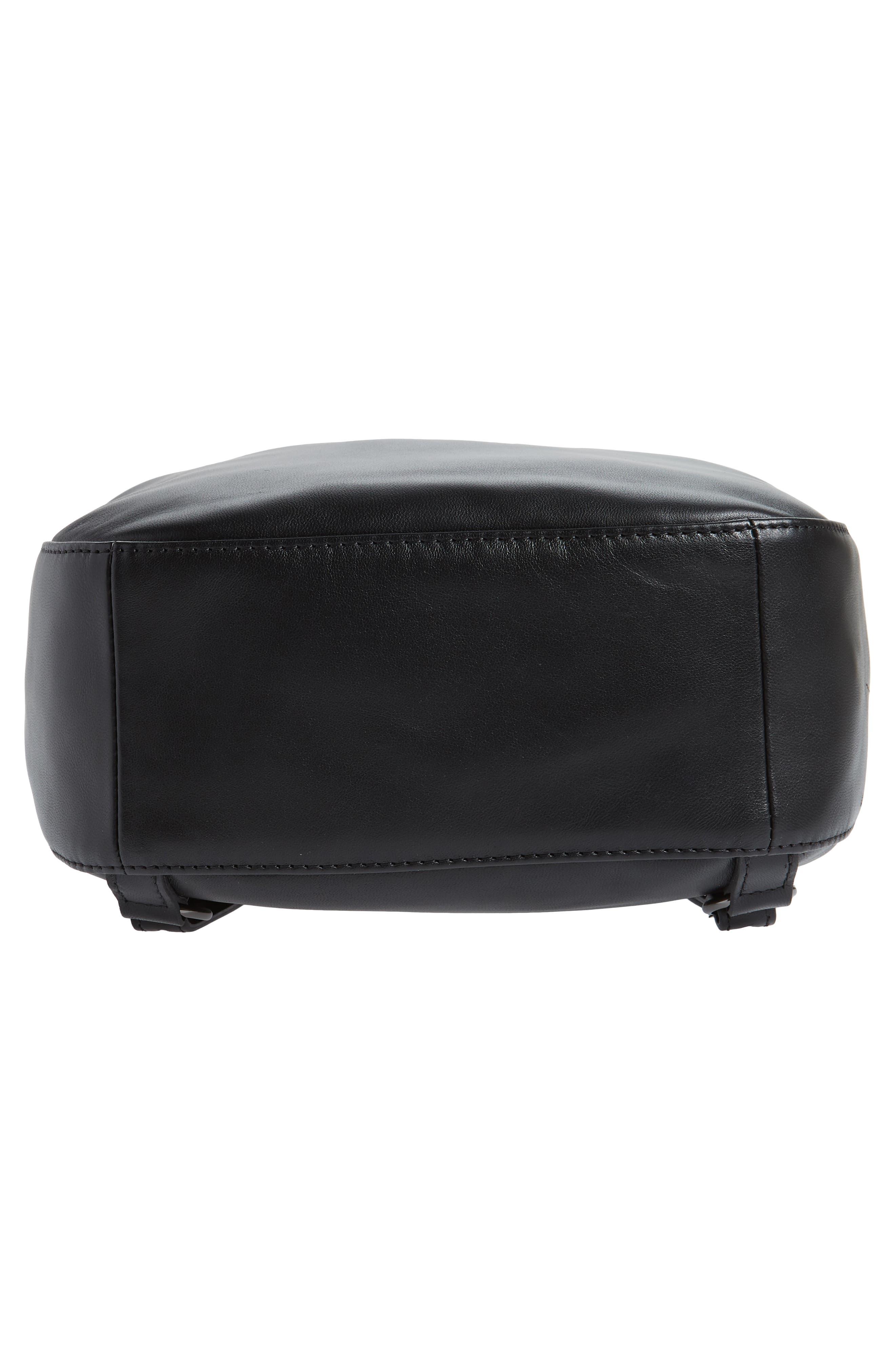 Cavalcade Leather Backpack,                             Alternate thumbnail 6, color,                             BLACK