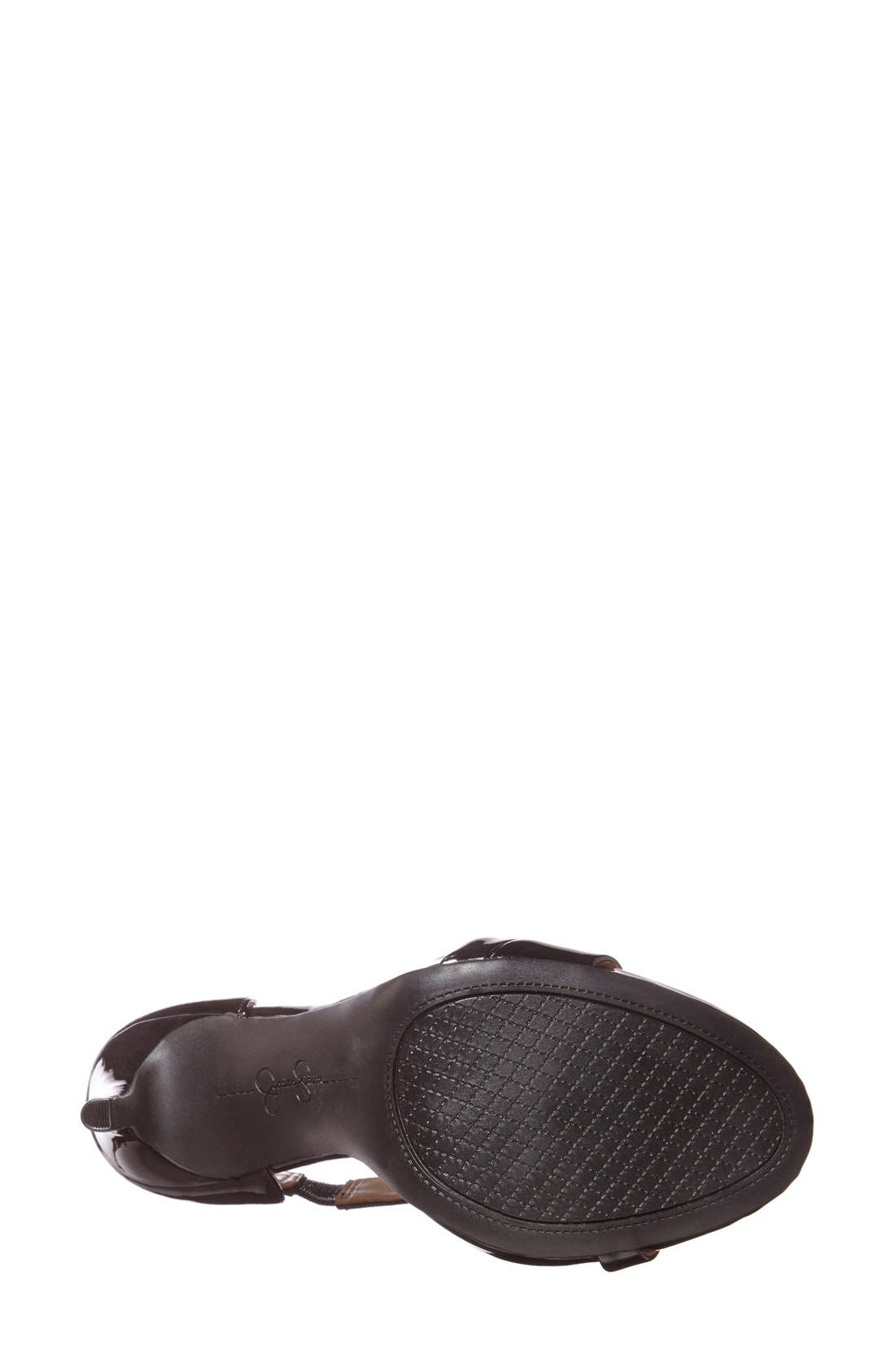 'Rayli' Patent Ankle Strap Sandal,                             Alternate thumbnail 2, color,                             001