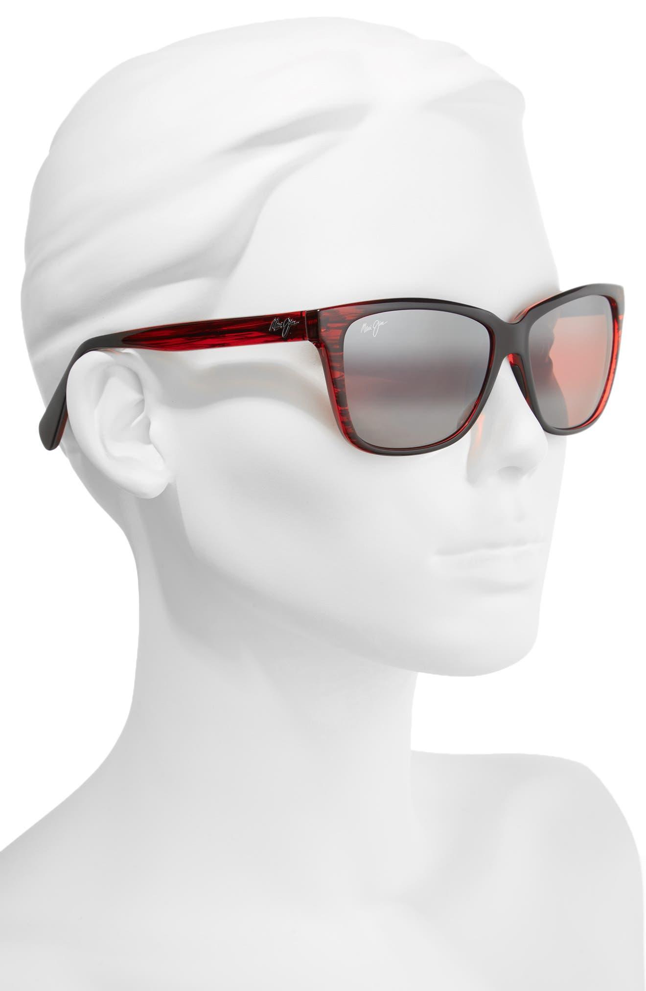 56mm Jacaranda Polarized Sunglasses,                             Alternate thumbnail 8, color,