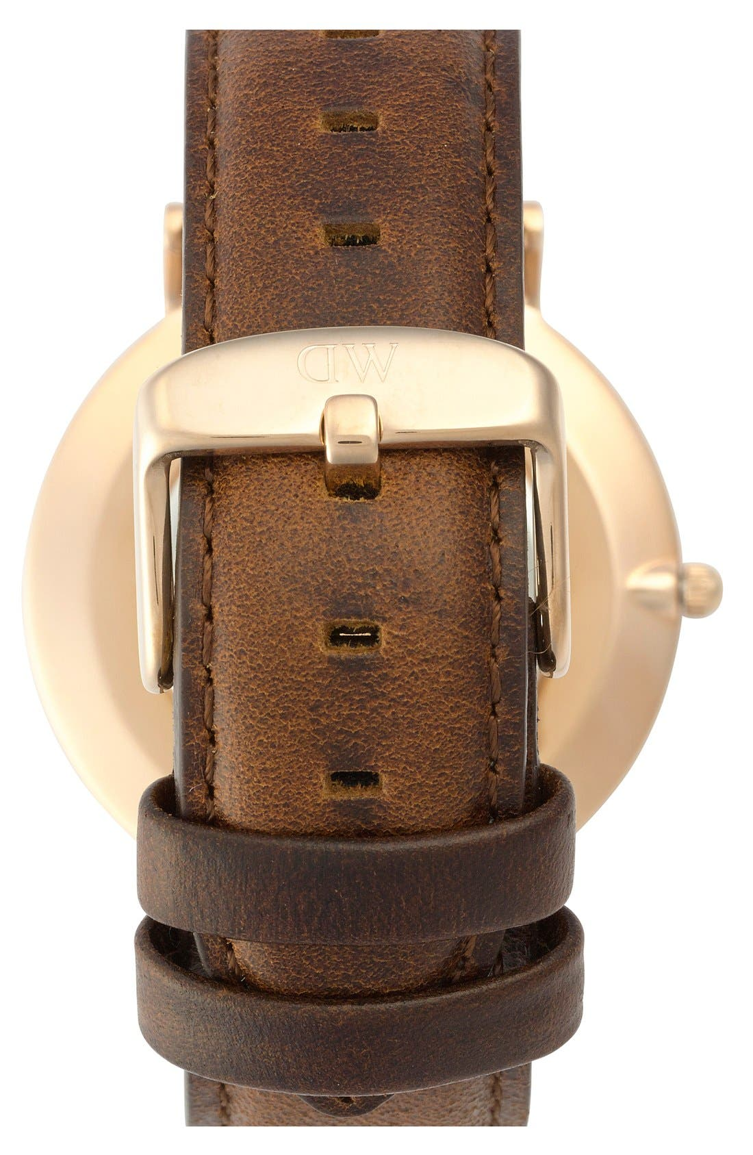 'Classic St. Mawes' Leather Strap Watch, 36mm,                             Alternate thumbnail 3, color,                             200