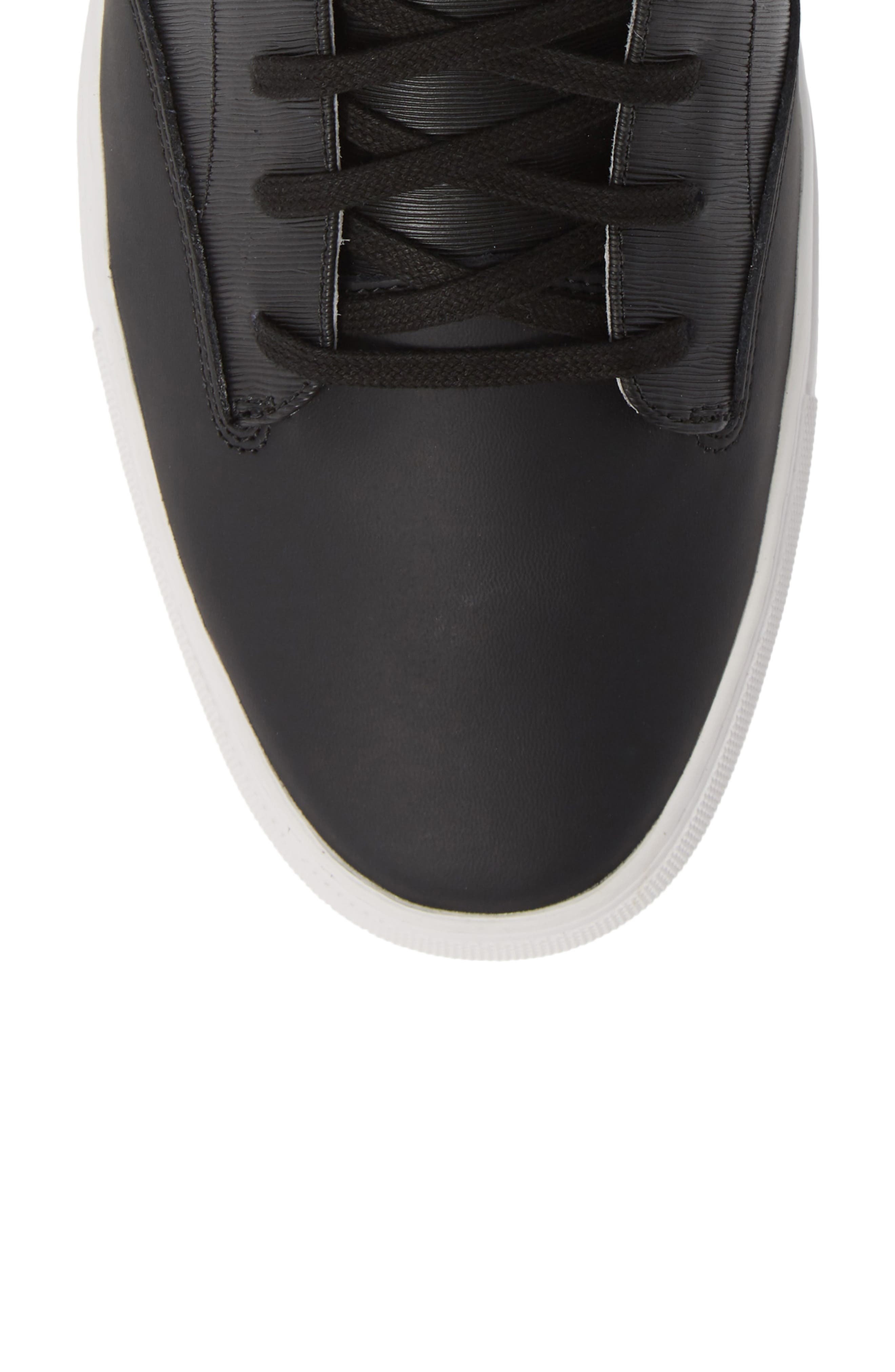 'Porter' High Top Sneaker,                             Alternate thumbnail 5, color,                             BLACK SUEDE/ LEATHER