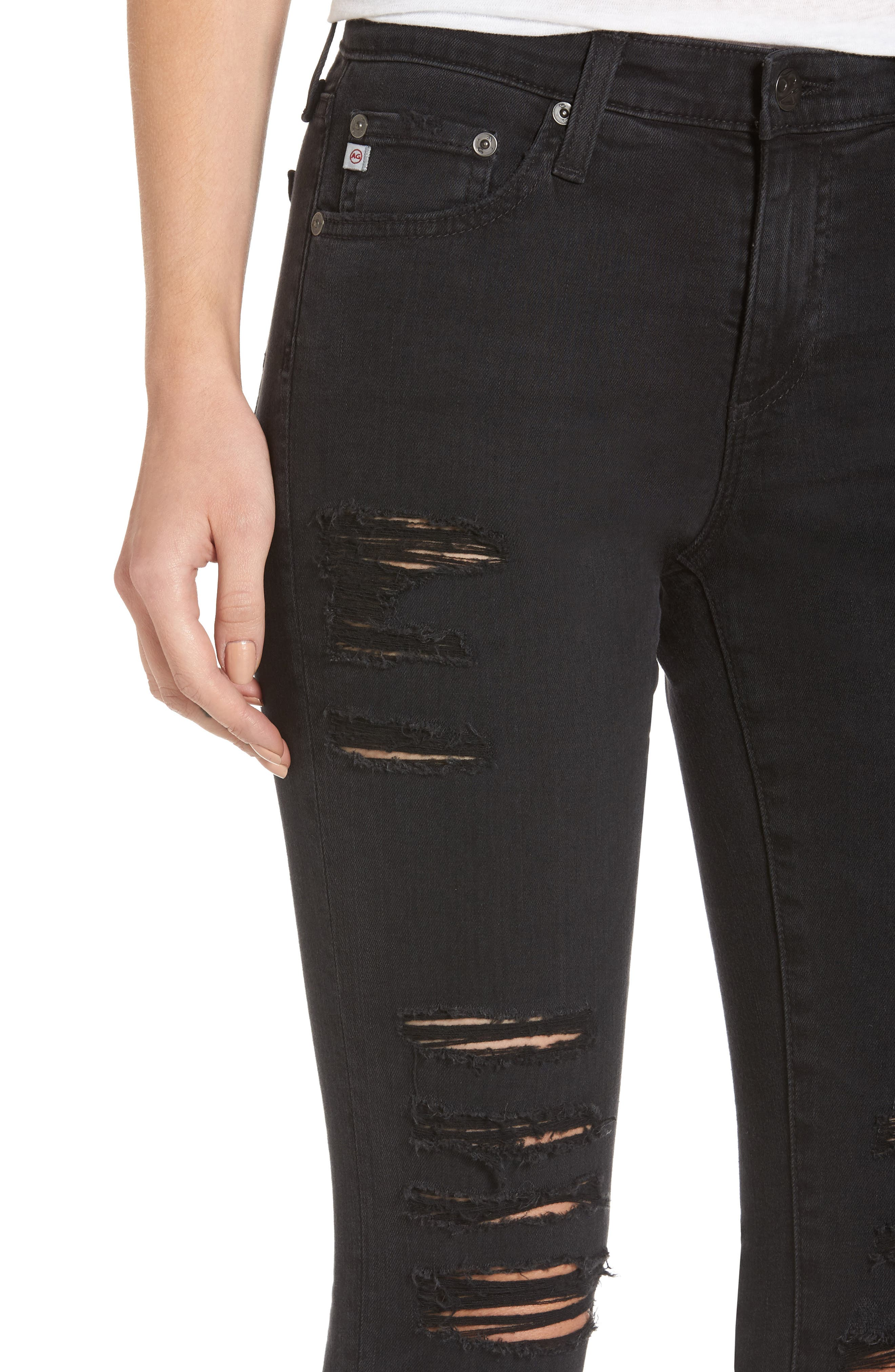 'The Legging' Ankle Super Skinny Jeans,                             Alternate thumbnail 16, color,