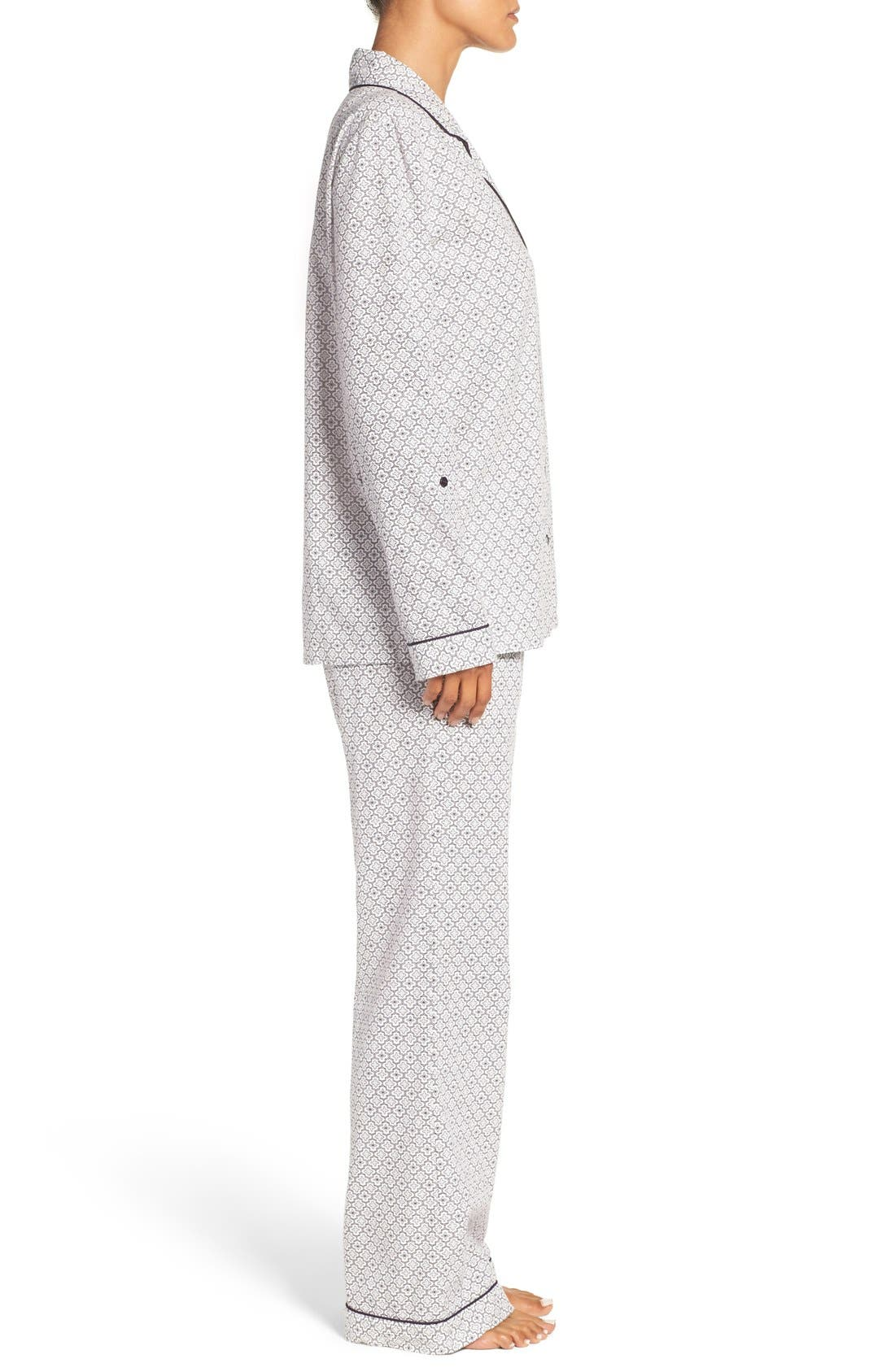 Cotton Twill Pajamas,                             Alternate thumbnail 28, color,