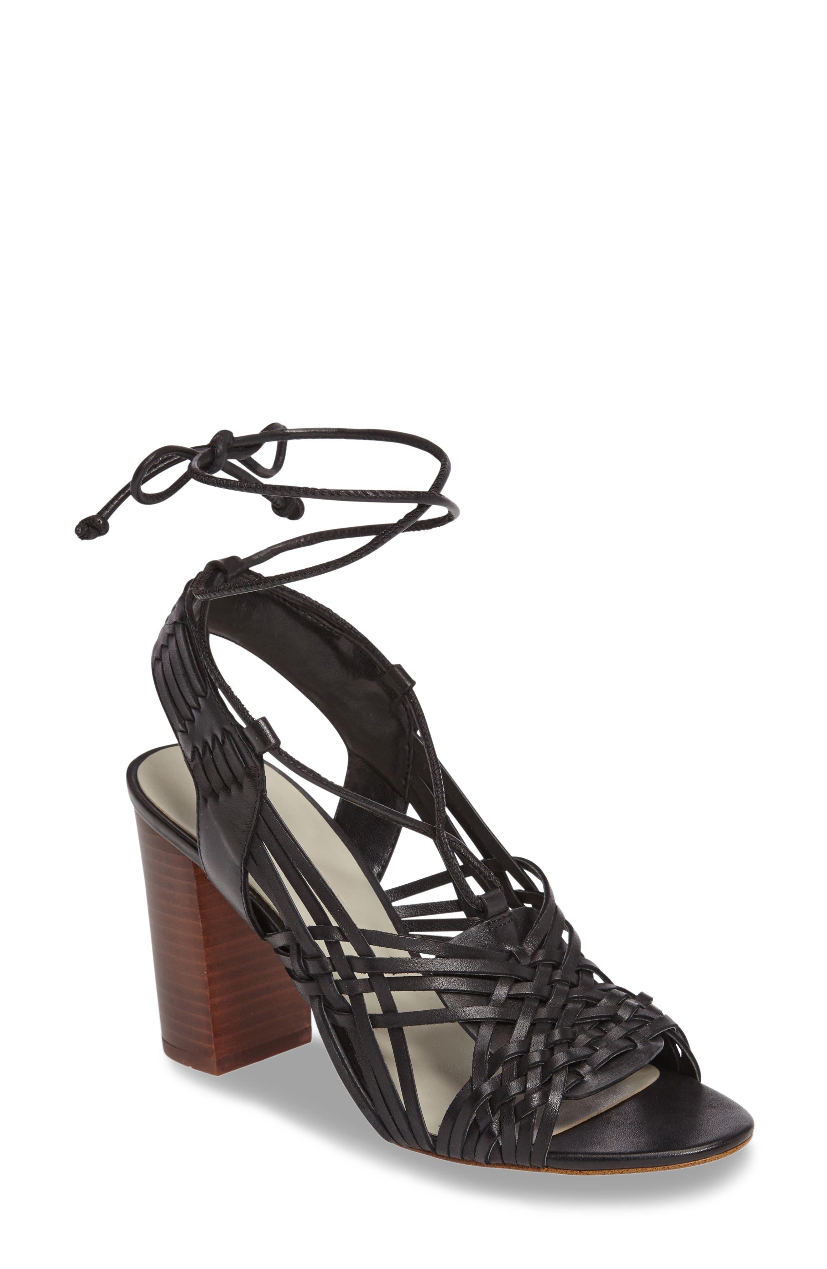 Shannen Block Heel Sandal,                             Main thumbnail 1, color,                             001