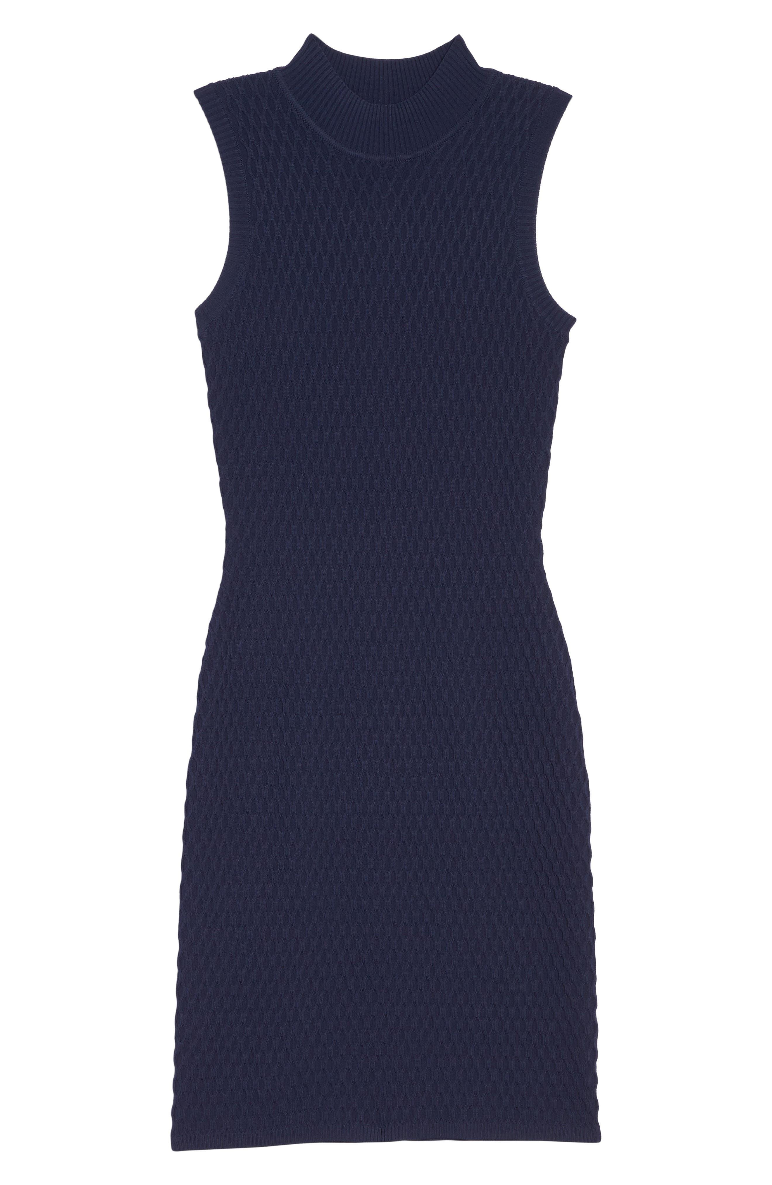 Mock Neck Sweater Dress,                             Alternate thumbnail 6, color,                             410
