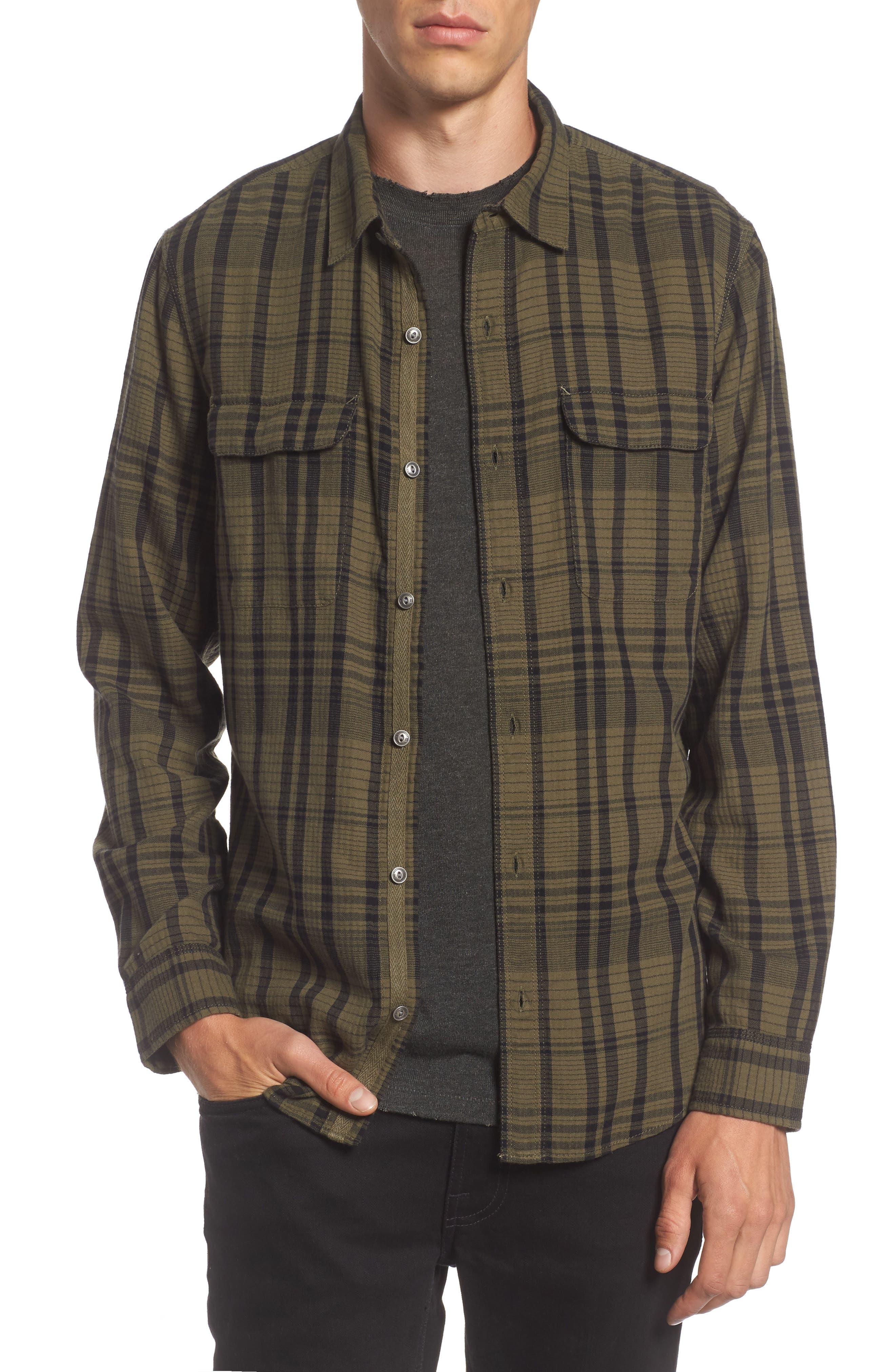 Hooper Plaid Sport Shirt,                         Main,                         color,