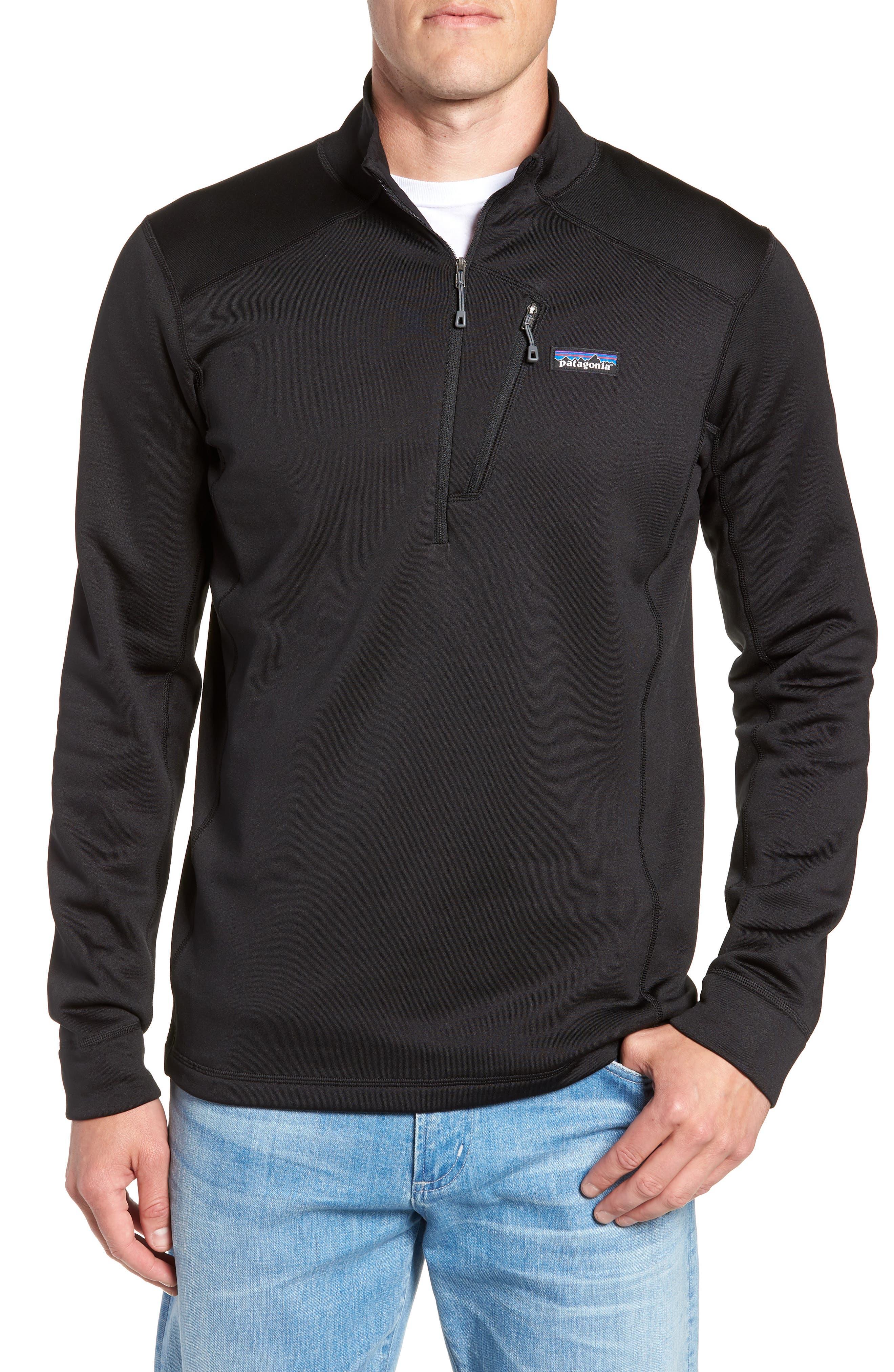 Crosstrek Quarter Zip Fleece Pullover,                         Main,                         color, BLACK