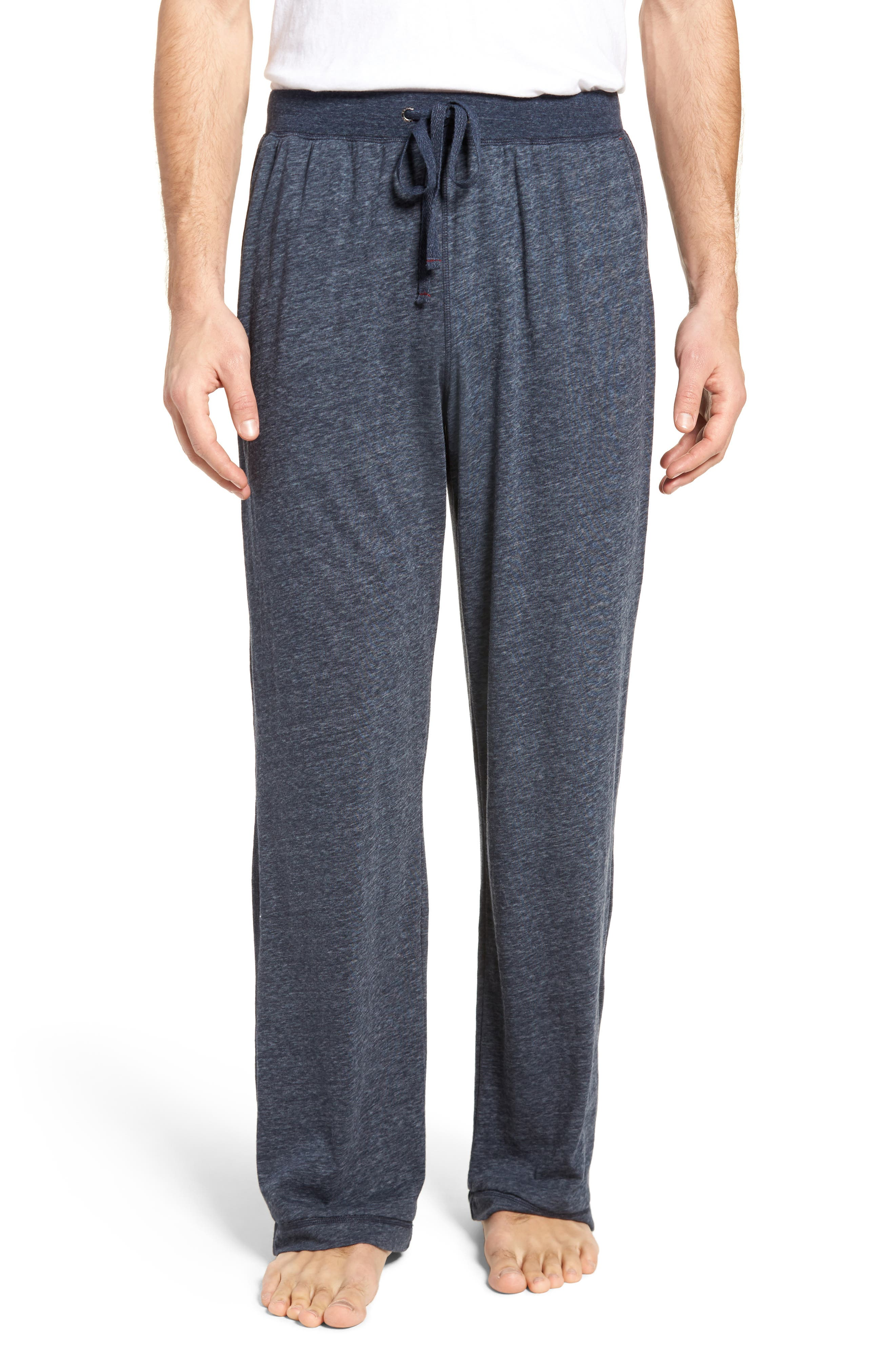 Recycled Cotton Blend Lounge Pants,                             Main thumbnail 1, color,                             NAVY HEATHER