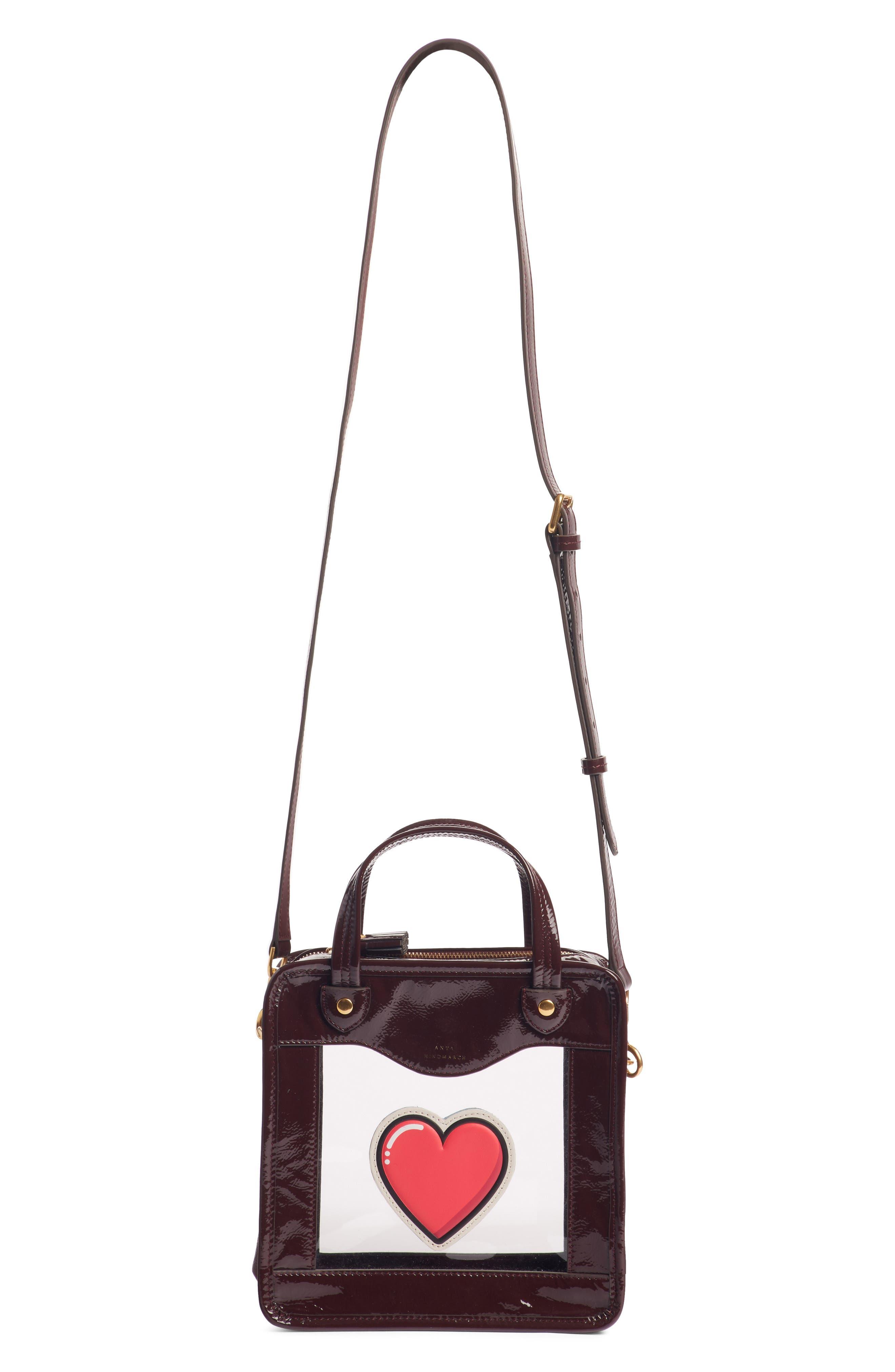 Rainy Day Heart Crossbody Bag,                             Main thumbnail 1, color,                             CLARET
