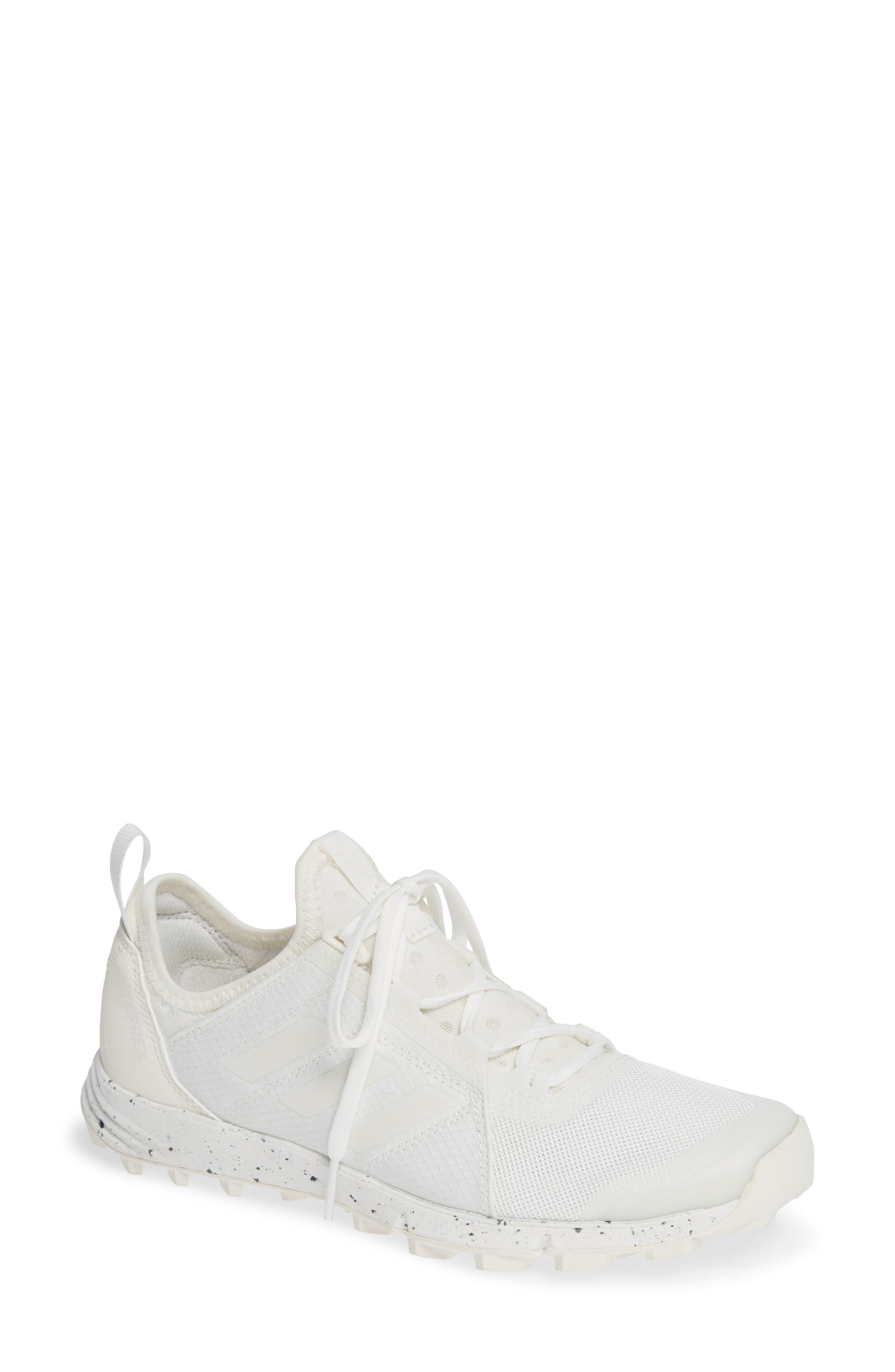 Terrex Agravic Speed Running Shoe,                             Main thumbnail 1, color,                             NON-DYED/ WHITE/ CHALK WHITE