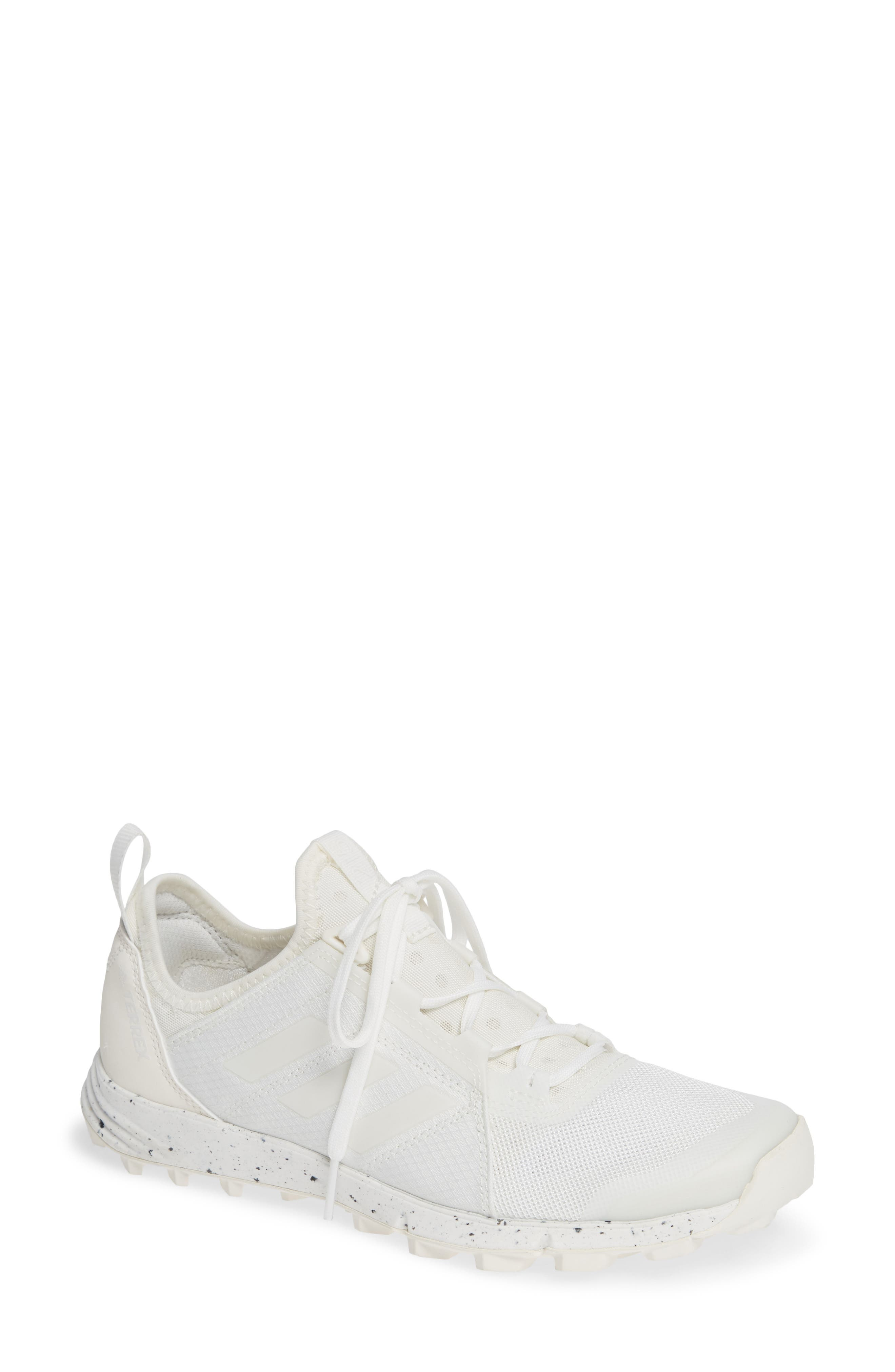 Terrex Agravic Speed Running Shoe,                         Main,                         color, NON-DYED/ WHITE/ CHALK WHITE