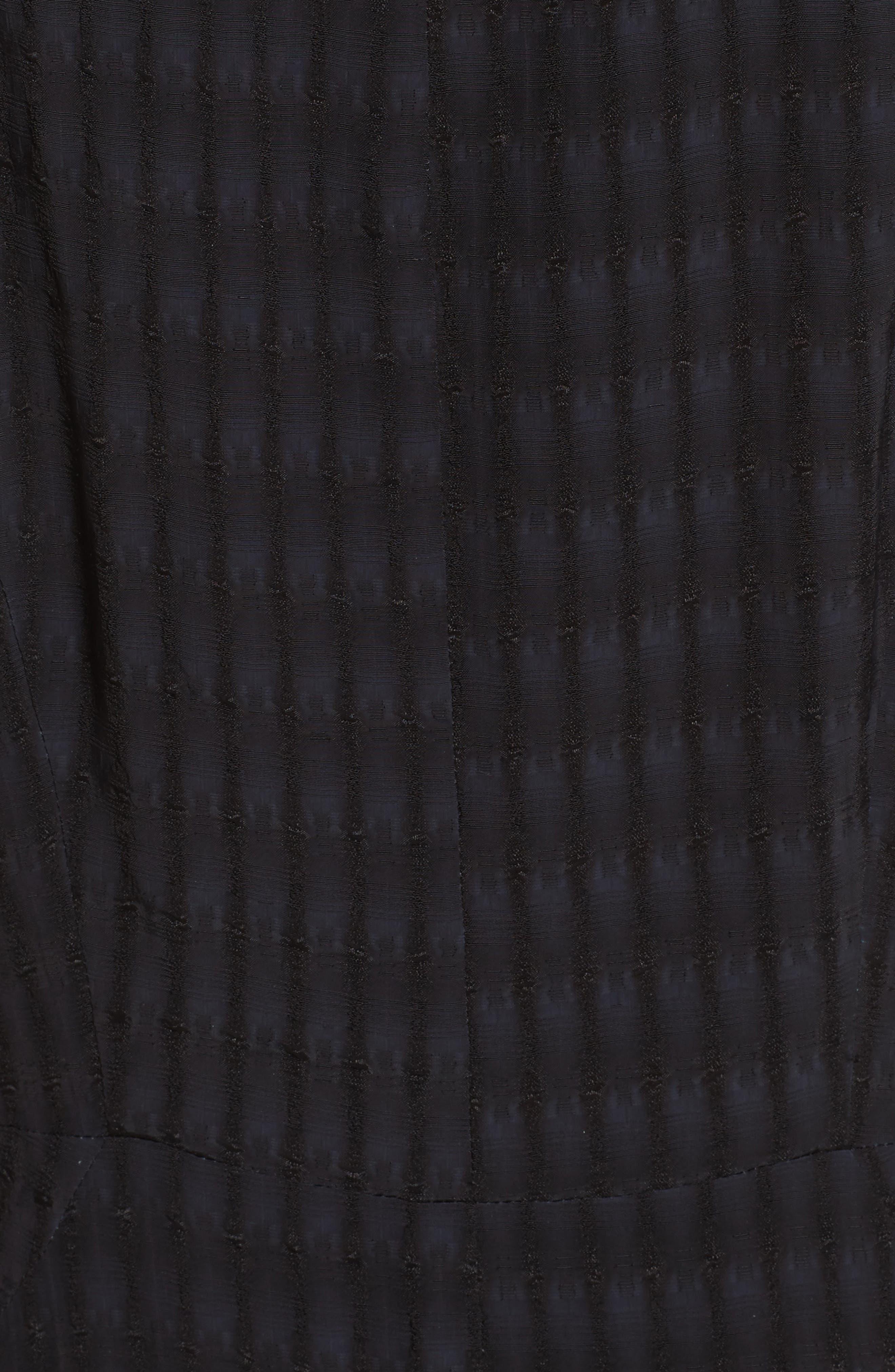 Zowie Batik Plaid Jumpsuit,                             Alternate thumbnail 6, color,                             BLACK