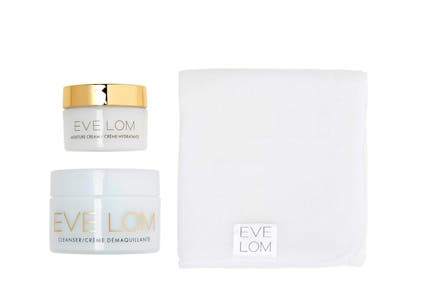 EVE LOM gift with purchase.