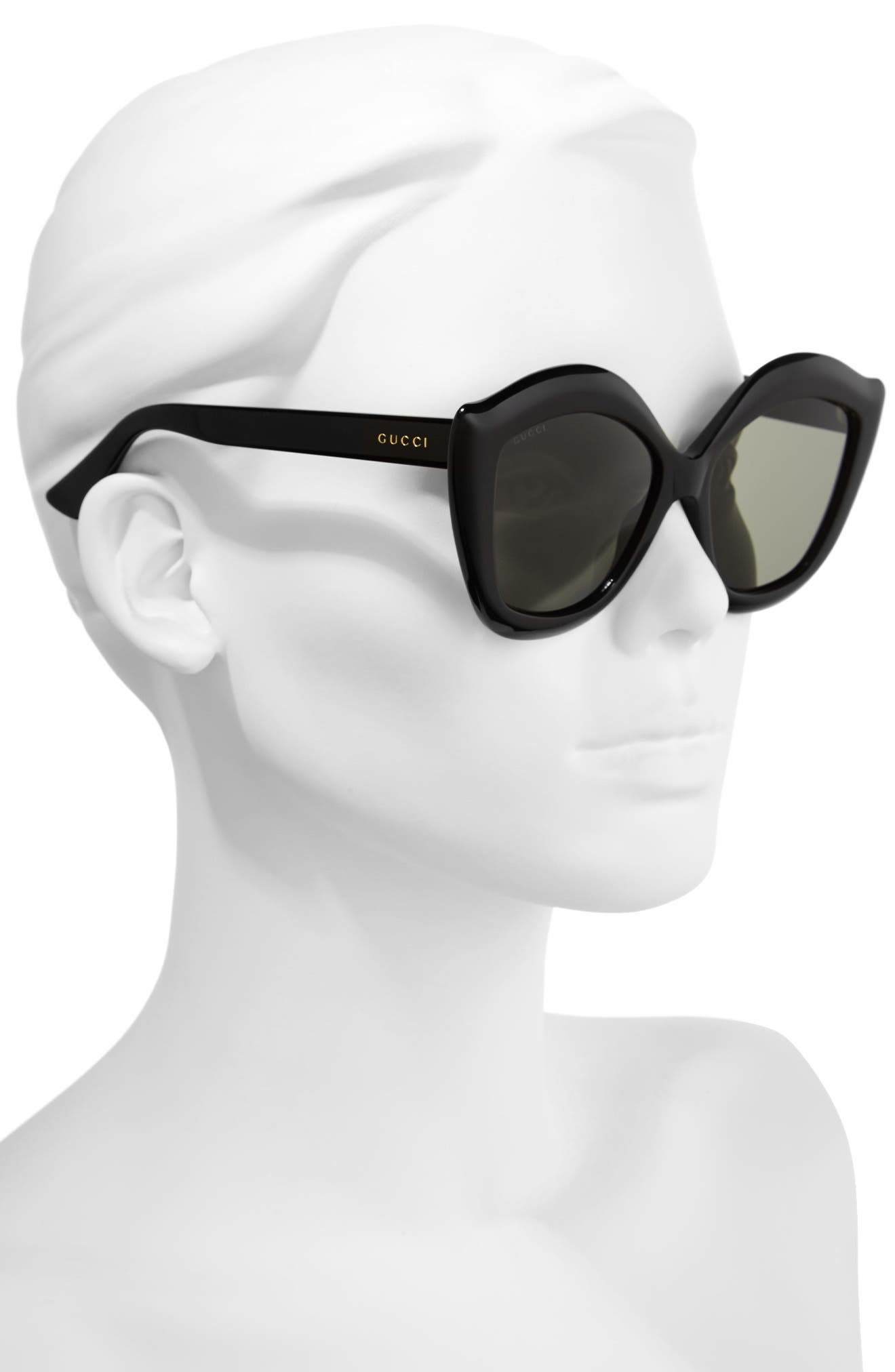 53mm Cat Eye Sunglasses,                             Alternate thumbnail 2, color,                             001