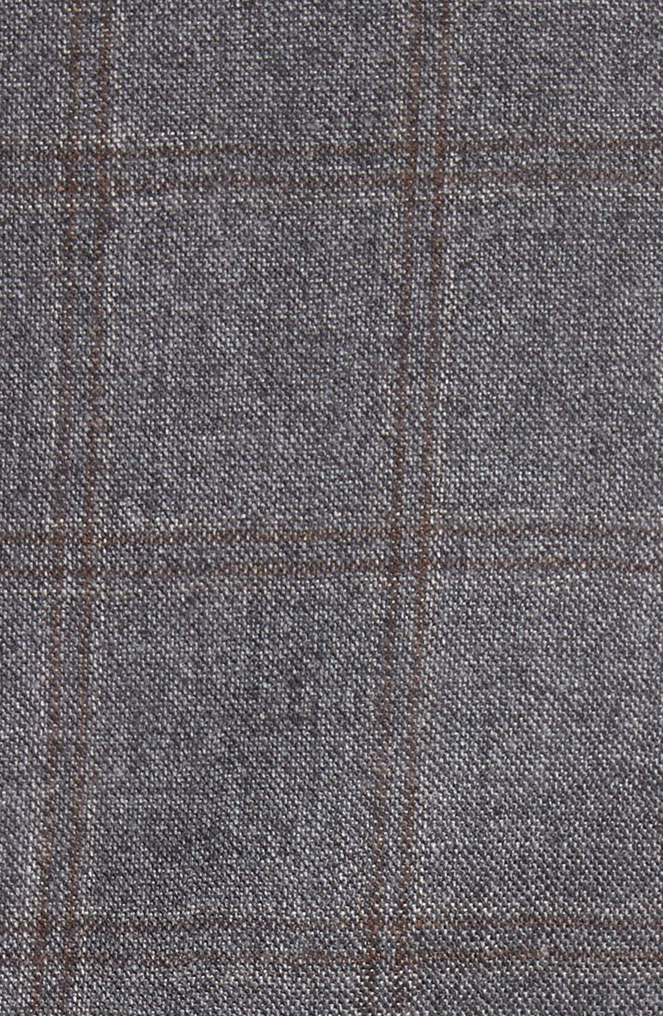Classic Fit Plaid Wool Suit,                             Alternate thumbnail 7, color,                             030
