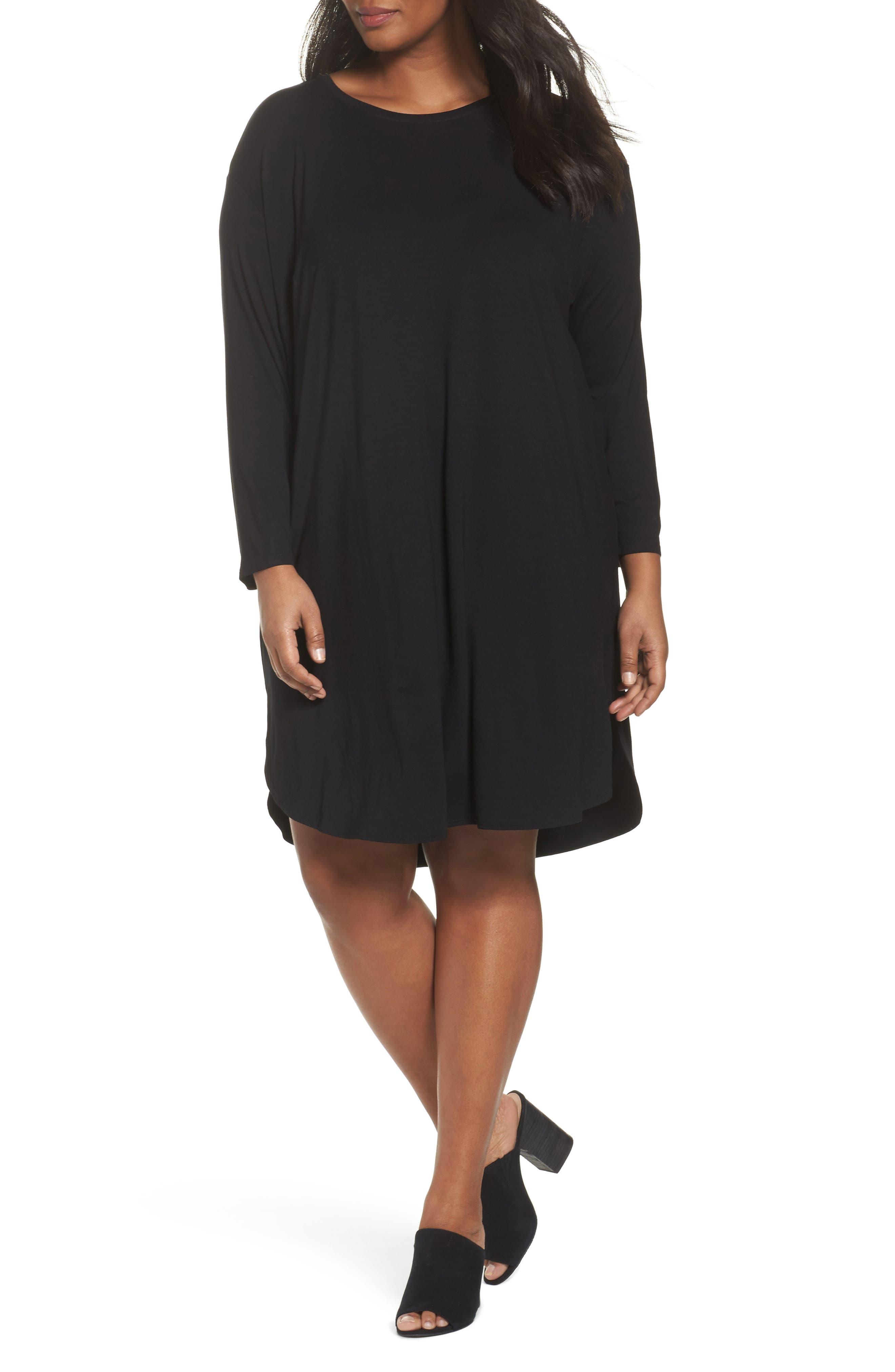 Jersey Shift Dress,                         Main,                         color, 001
