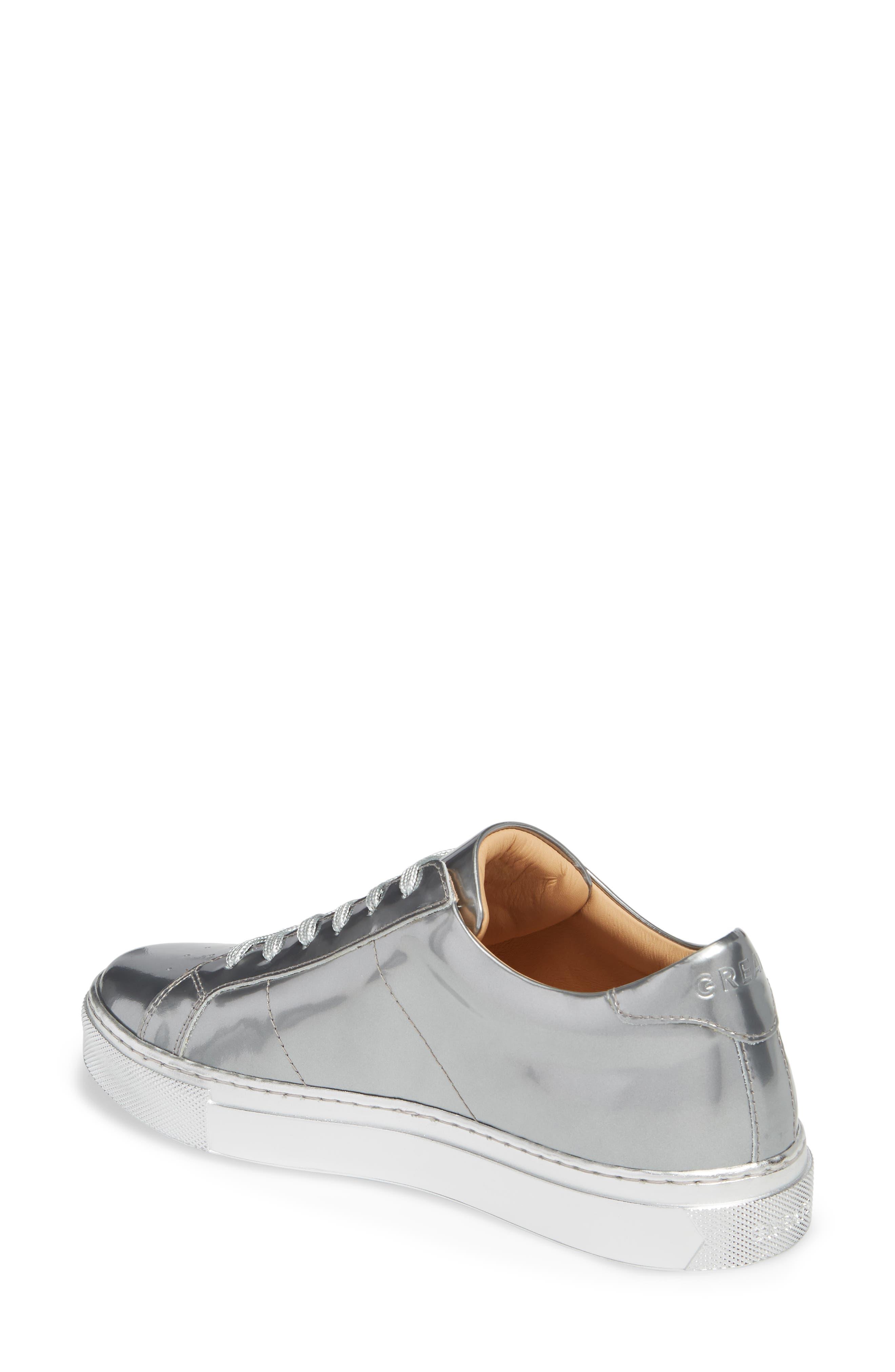 Royale Low Top Sneaker,                             Alternate thumbnail 2, color,                             SILVER TONAL/ FLAT LEATHER