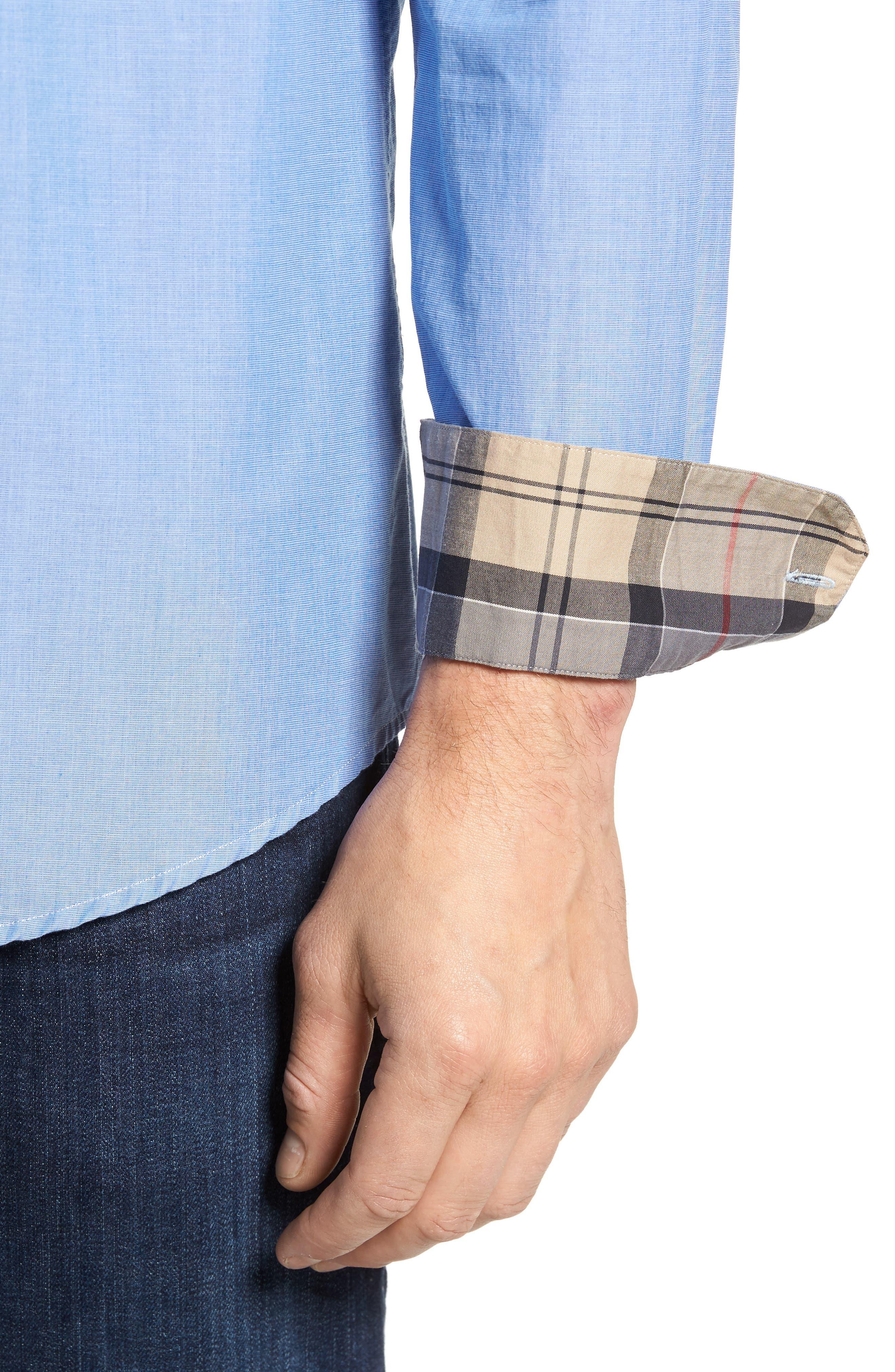 Fairfield Tailored Fit Sport Shirt,                             Alternate thumbnail 4, color,                             450
