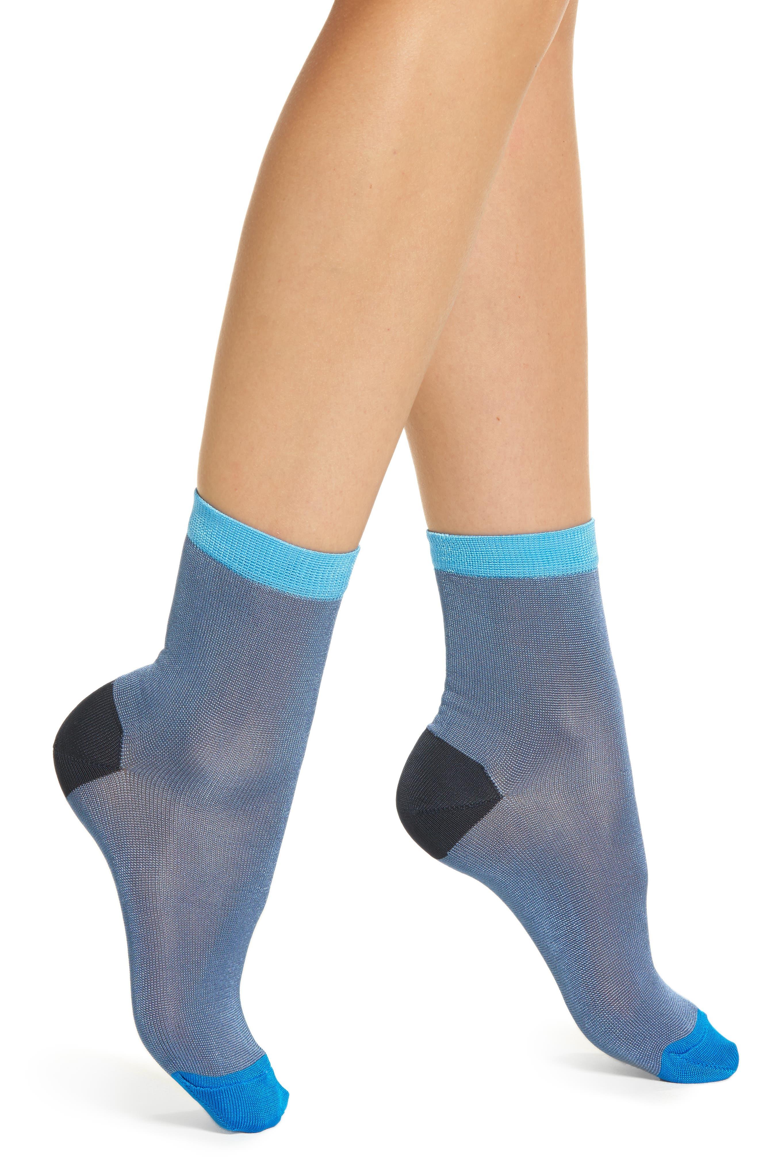 Grace Ankle Socks,                         Main,                         color, BLUE